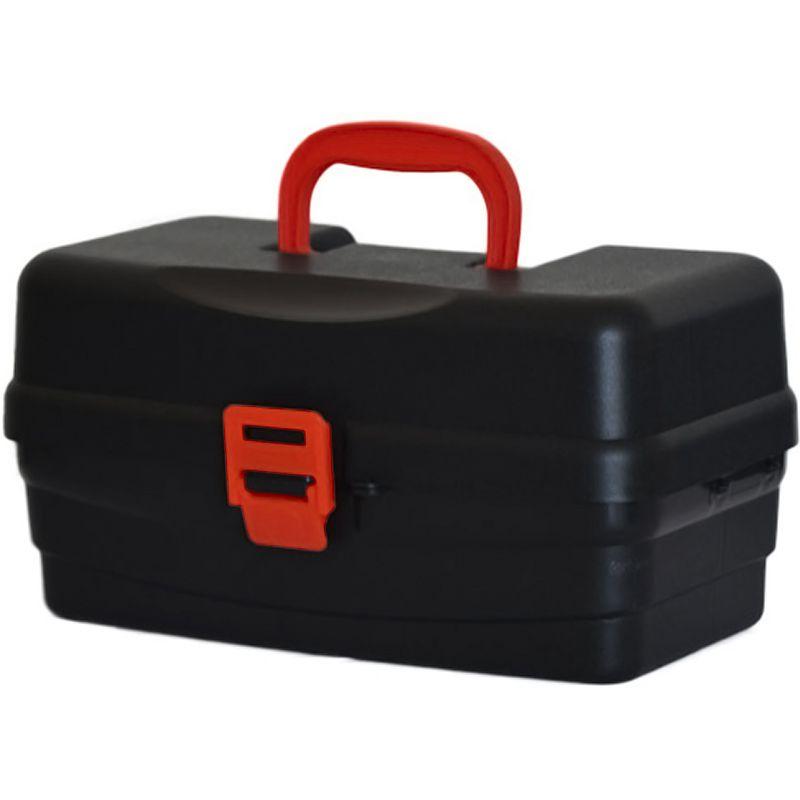Caixa Hi Articulada Preto com 2 Bandejas (36x21x19cm)