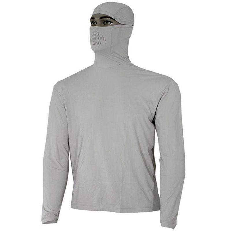 Camiseta Ballyhoo Ninja Cinza Claro (capuz e proteção UV)