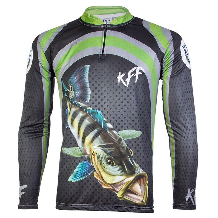 Camiseta de Pesca King KFF10 Tucunaré (Com Proteção Solar 50+)