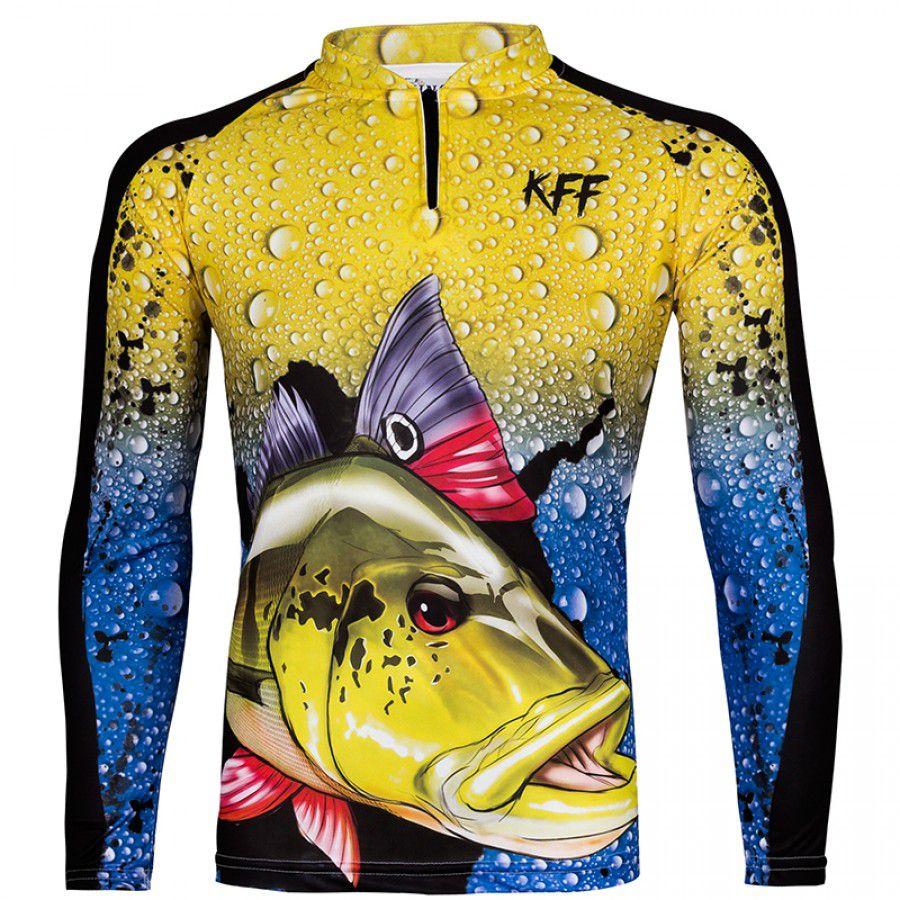 Camiseta de Pesca King KFF60 Tucunaré (Com Proteção Solar 50+)