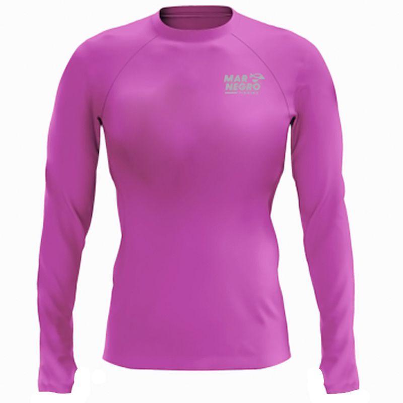 Camiseta de Pesca Mar Negro Infantil Poliamida Rosa (50UV+)
