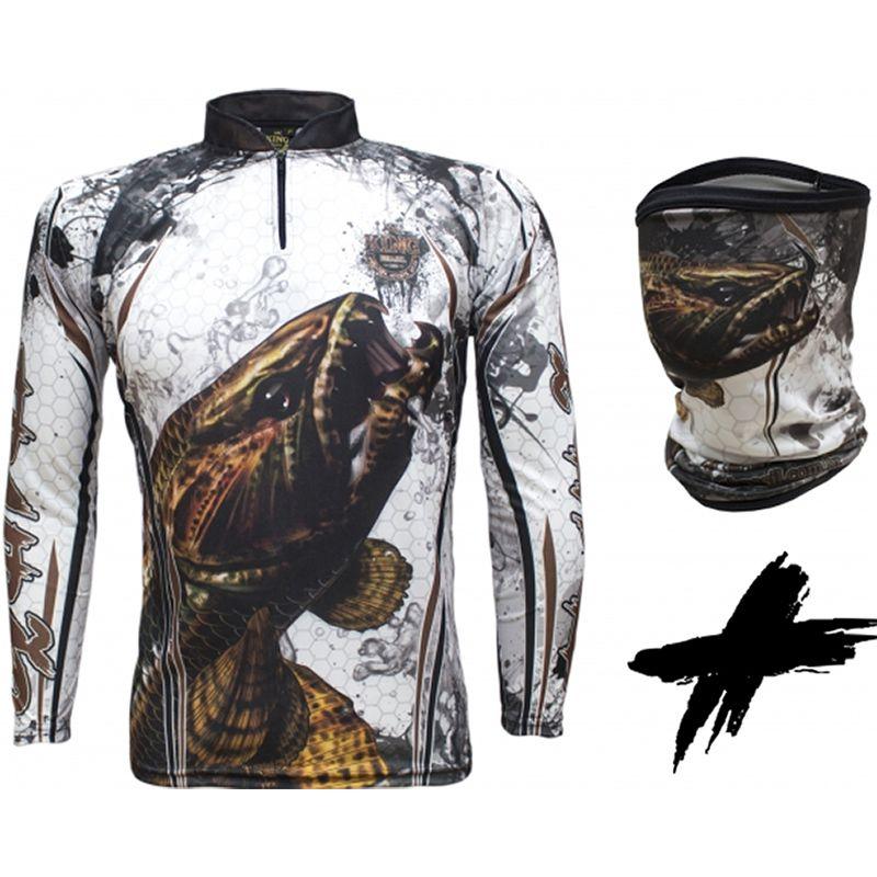Camiseta e Bandana de Pesca King KFF300 Traíra (Com Proteção Solar 50+)