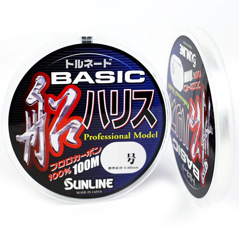 Linha Fluorocarbon Sunline Basic Harisu 07 37lb (0,43mm - 100m)