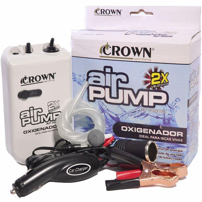 Oxigenador Crown AP 3502 2D (Kit 12V, 2 pilhas D)
