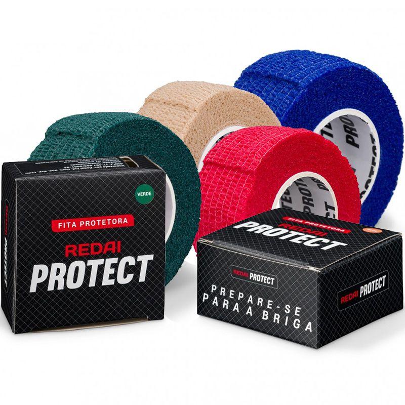 Protetor de Dedo Redai Protect Vermelho/Azul/Verde/Bege (1 unidade)