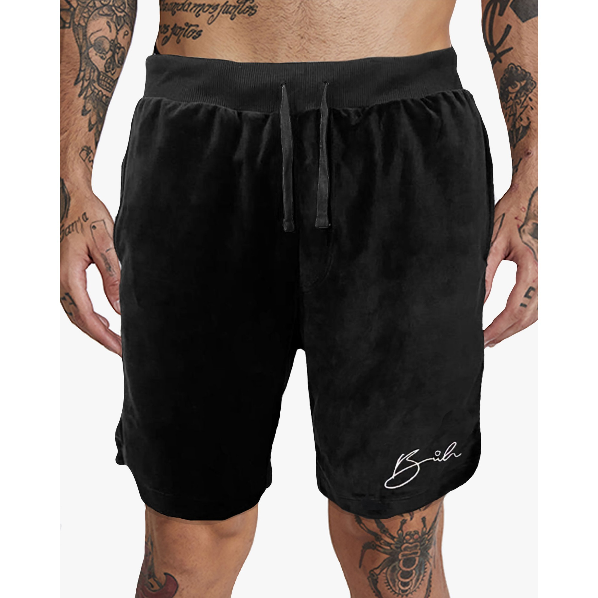Bermuda Buh Bordado Plush Black