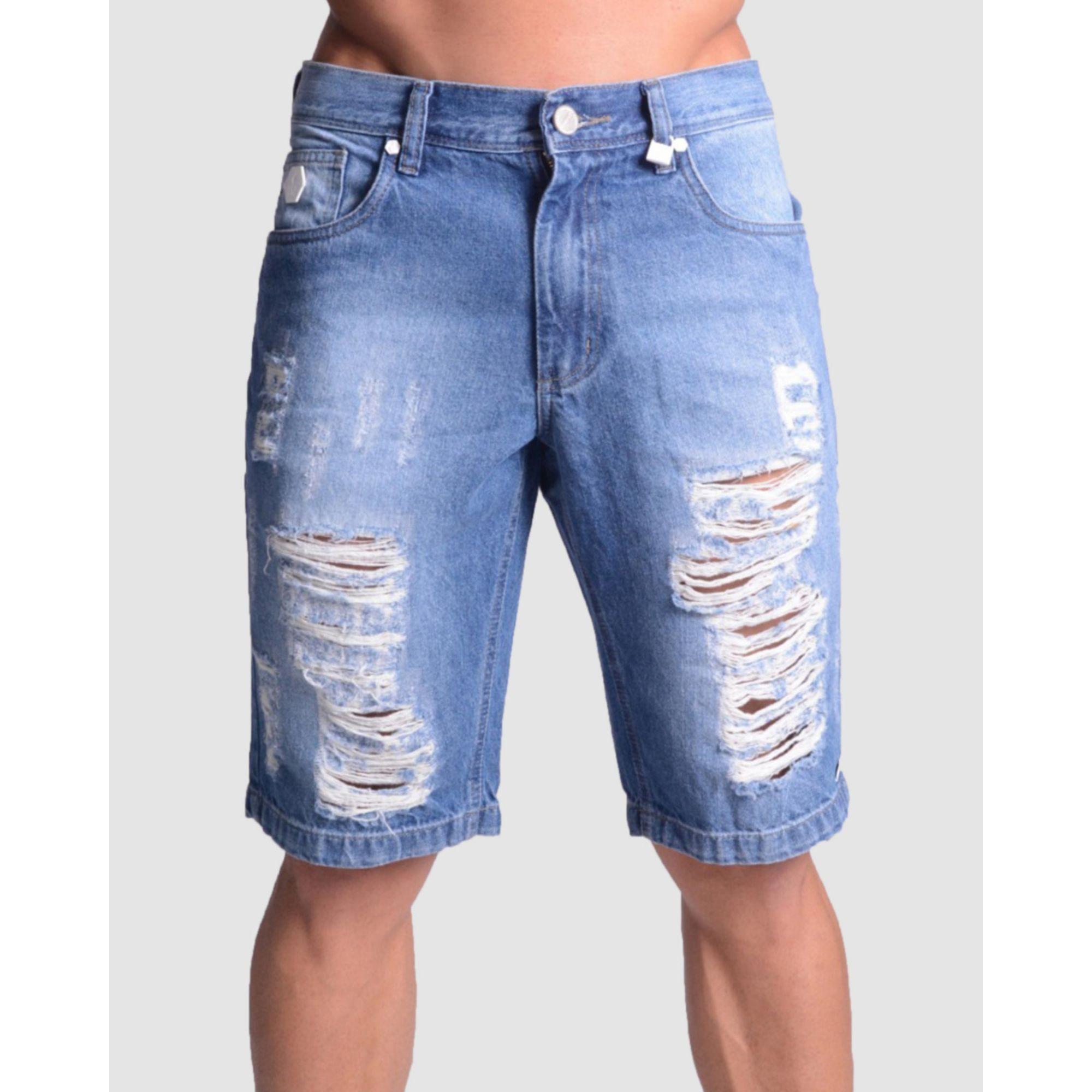 Bermuda Buh Jeans Azul Clara