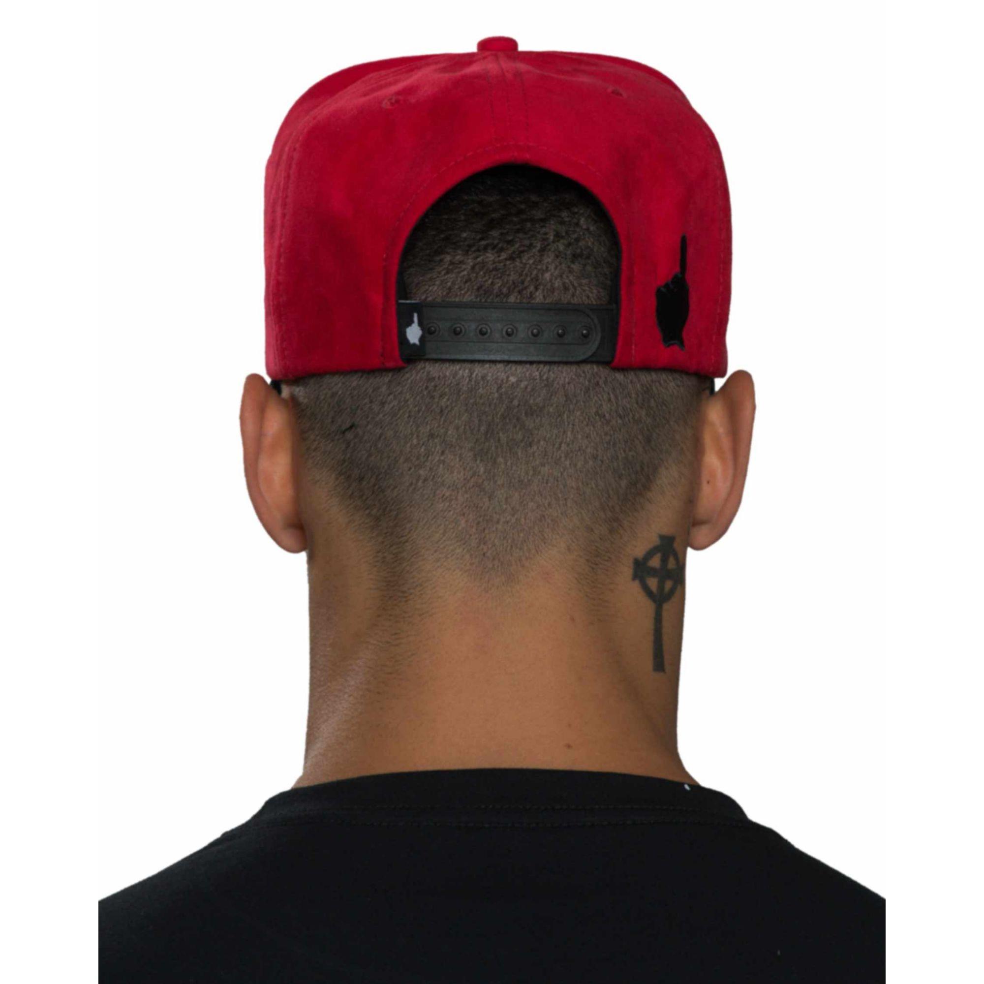 Boné Buh Bordado Red & Black