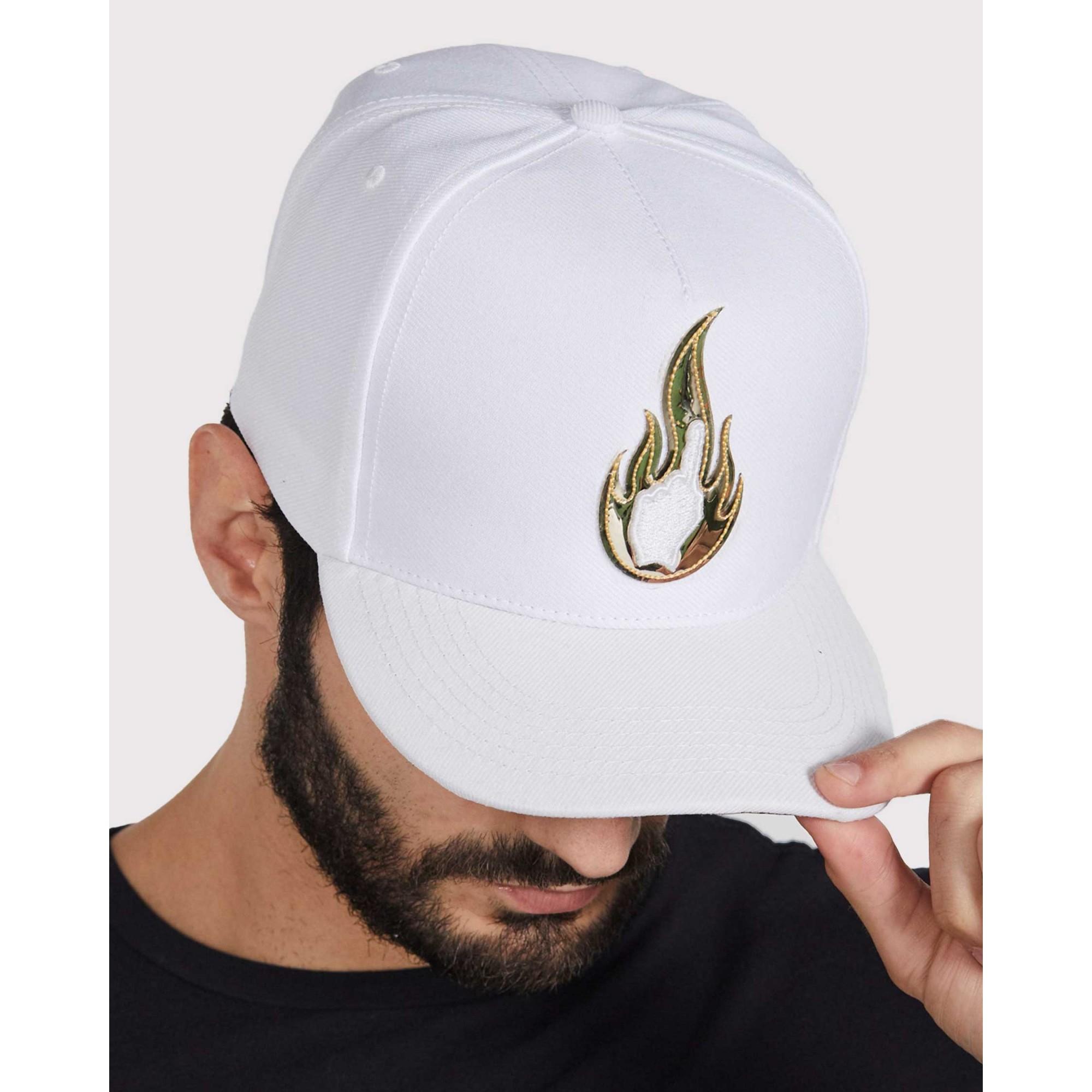 Boné Buh Chama Dourada White