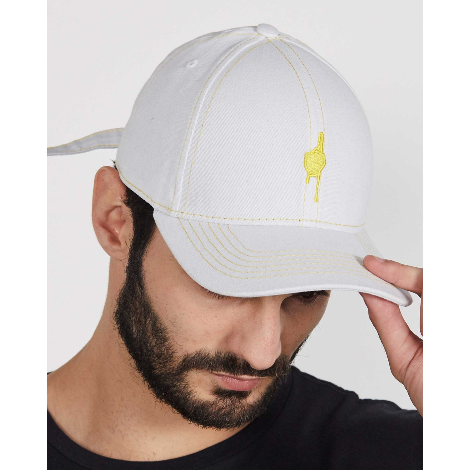 Boné Buh Dad Hat Dedo Escorrido White