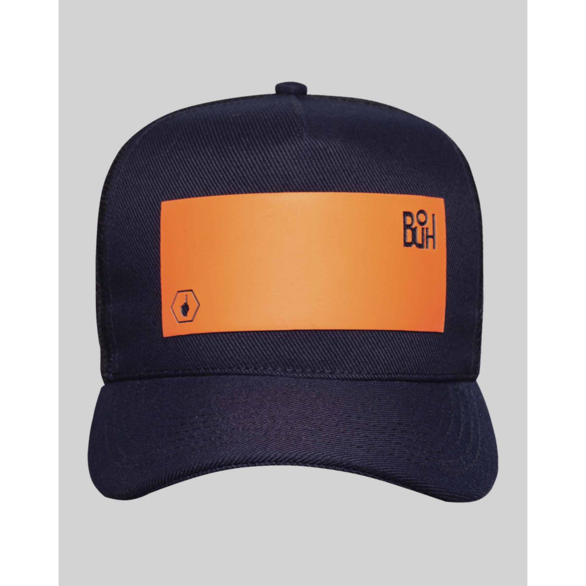 Boné Buh Fluor Square Black & Orange