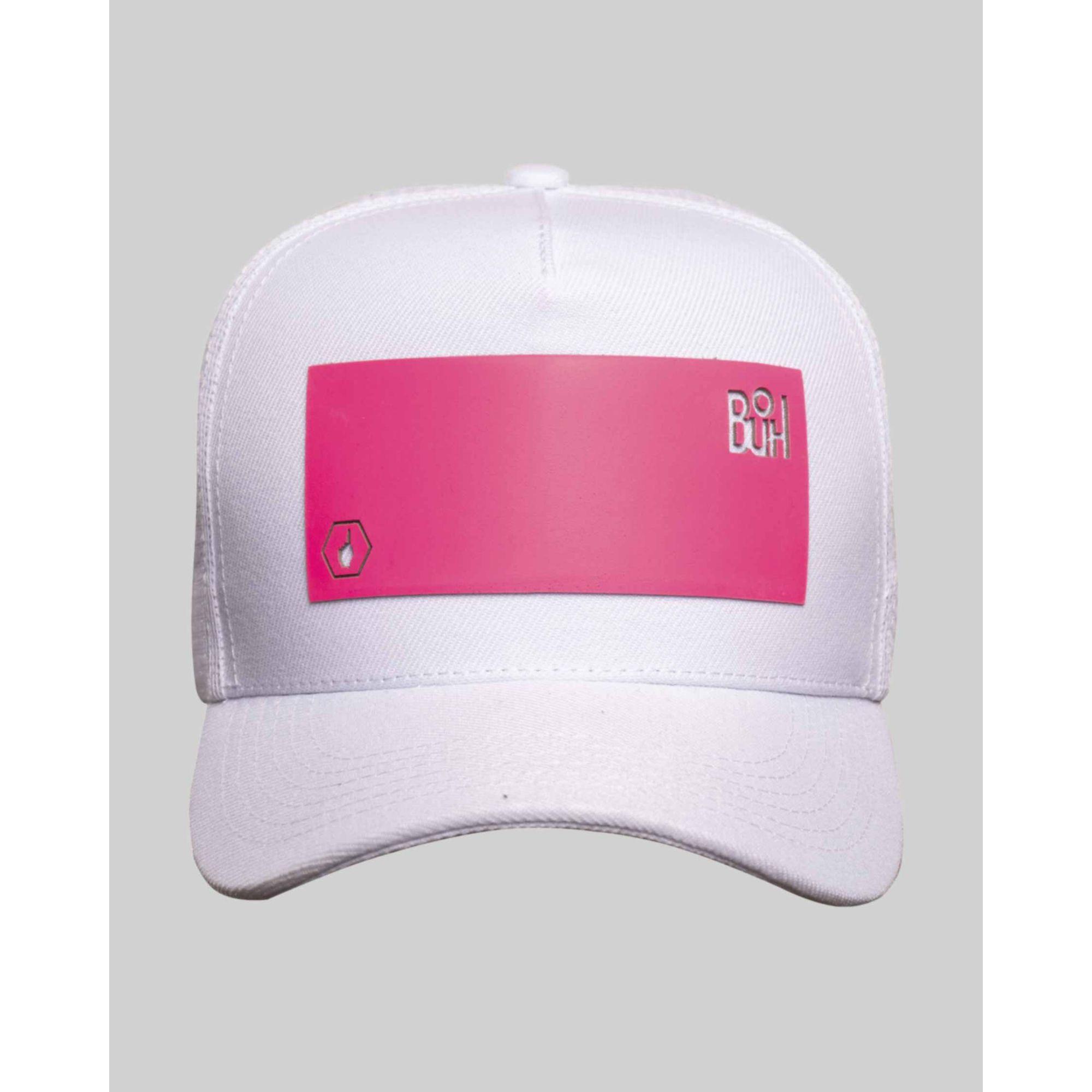 Boné Buh Fluor Square White & Pink