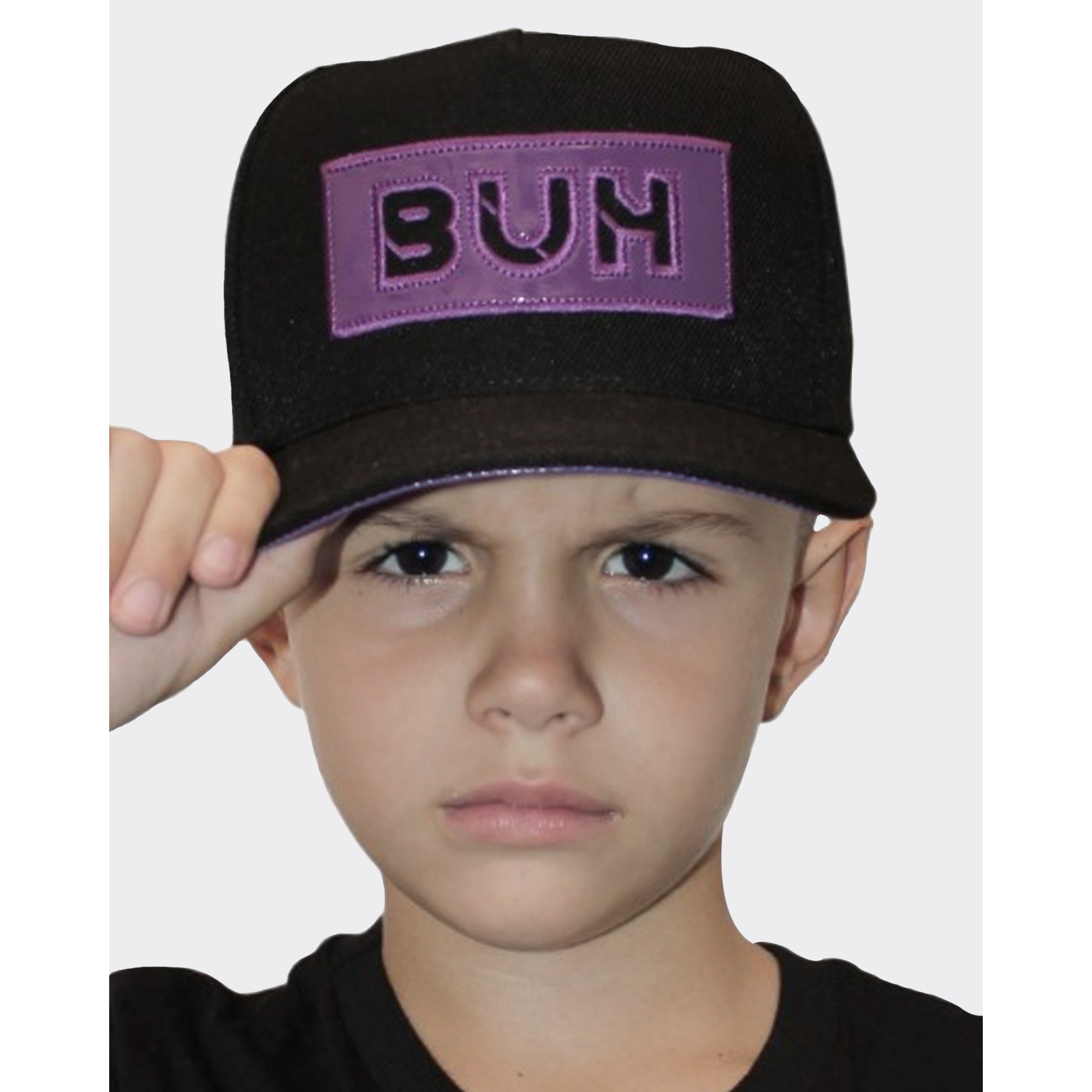 Boné Buh Kids Aplique Vinil Black & Purple