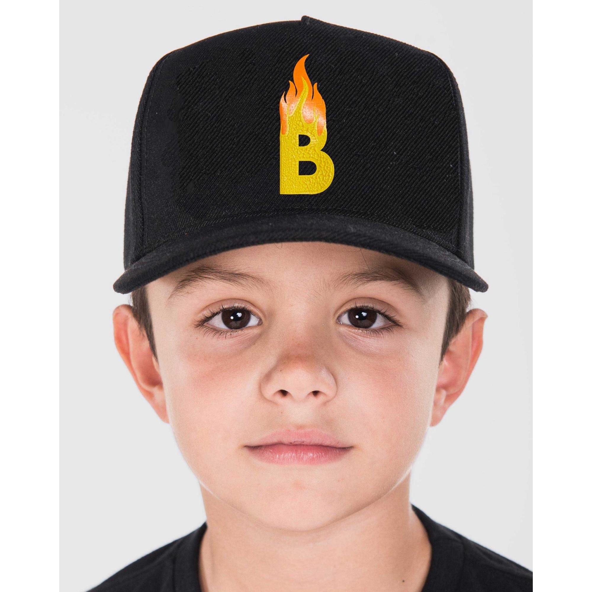 Boné Buh Kids Fogo Black