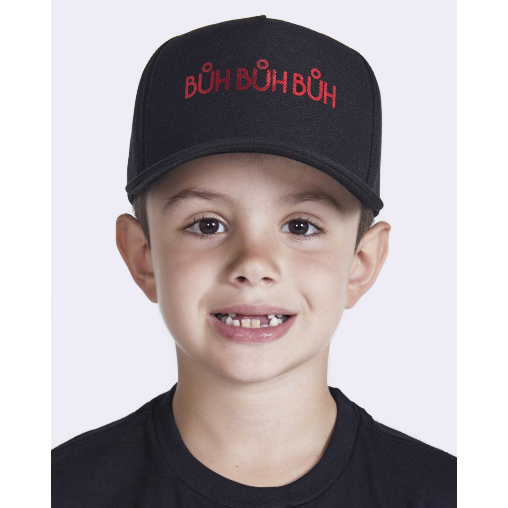 Boné Buh Kids Foil Black & Red
