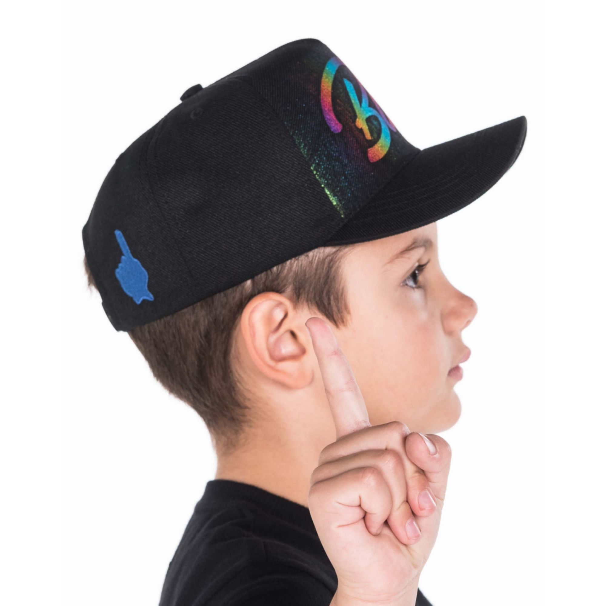 Boné Buh Kids Foil Colors Black