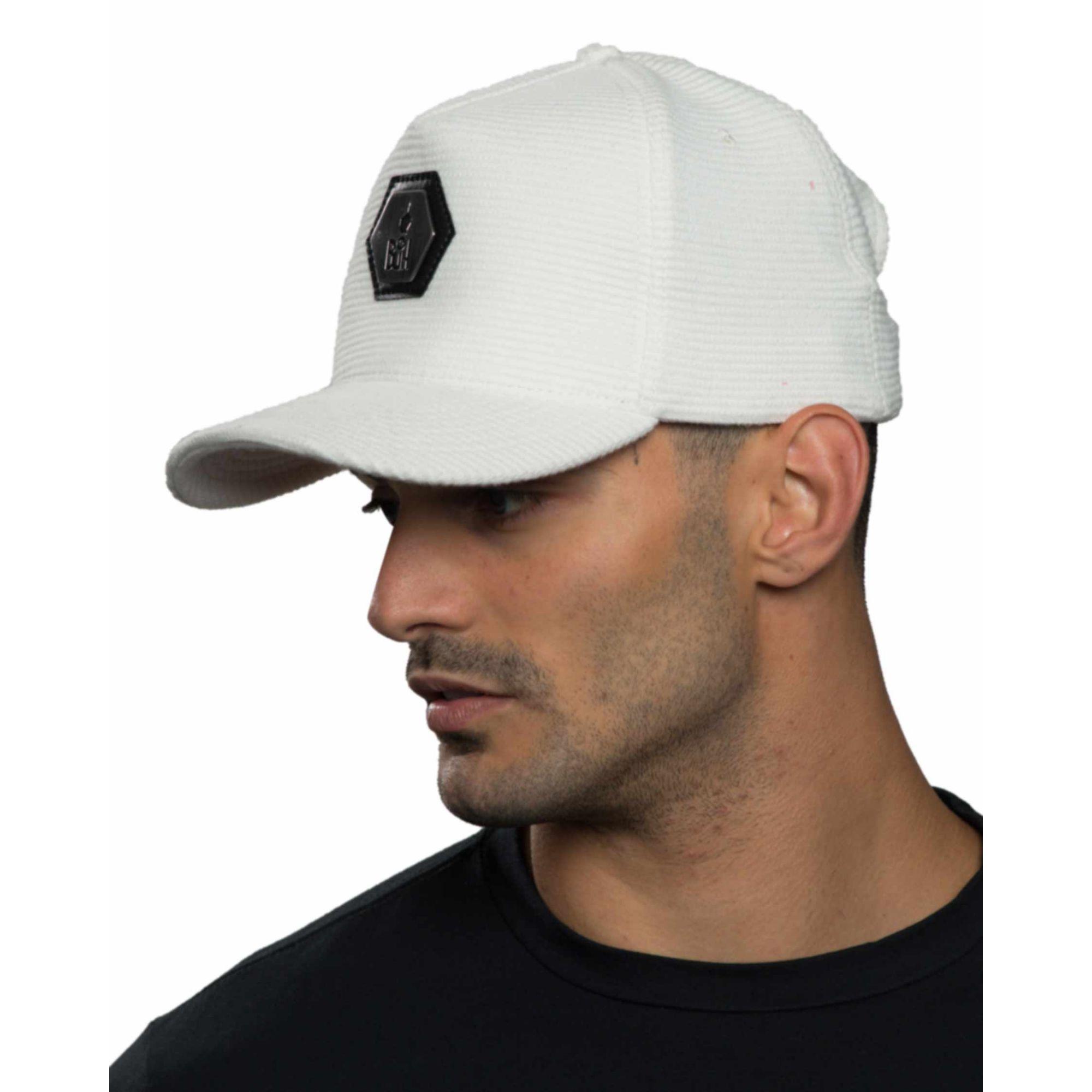 Boné Buh Placa Textura White