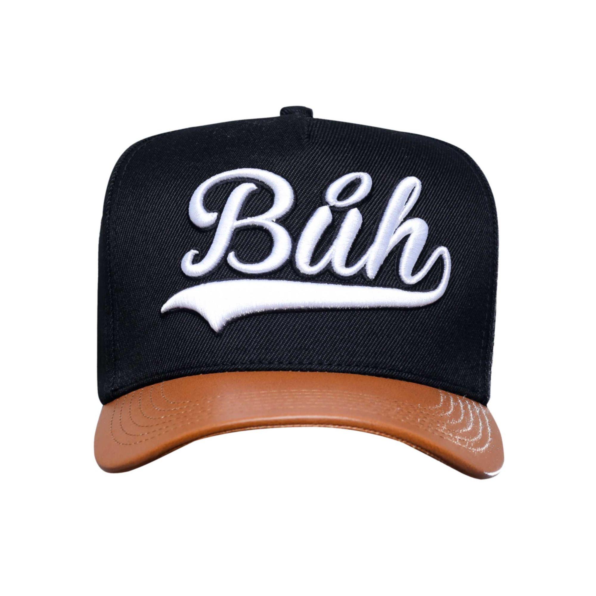 Boné Buh TBT Aba de Couro Black & Brown
