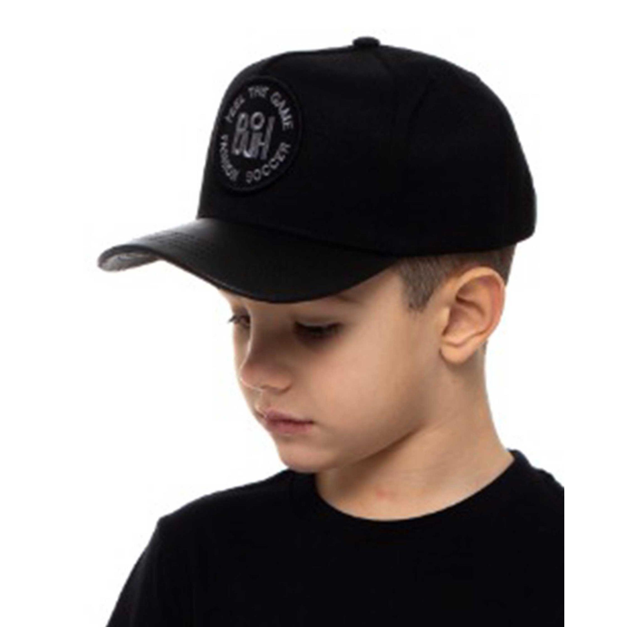 Boné Buh TBT Kids Aba de Couro Black