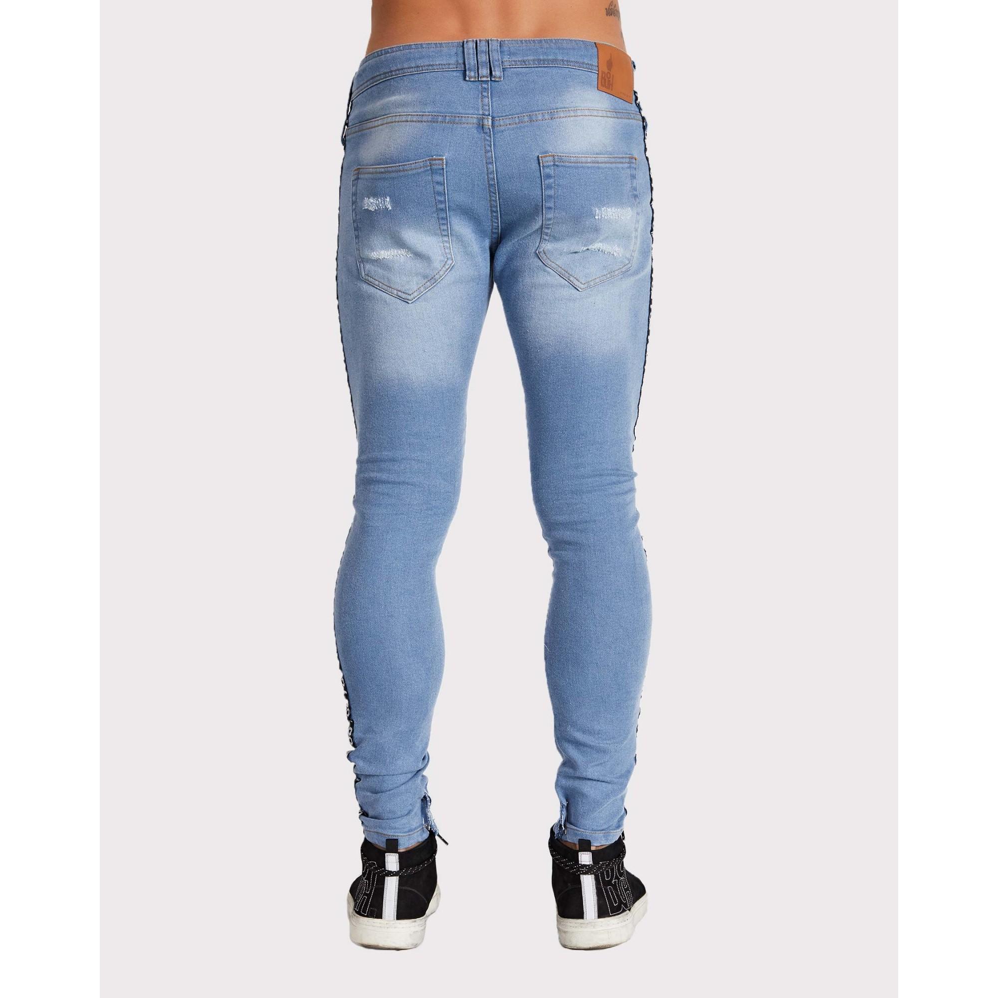 Calça Buh Jeans Galão Lateral Blue