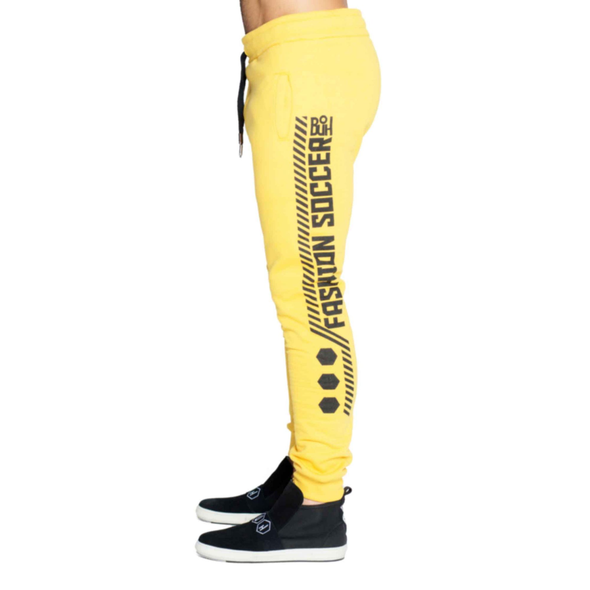 Calça Buh Side Stripes Yellow