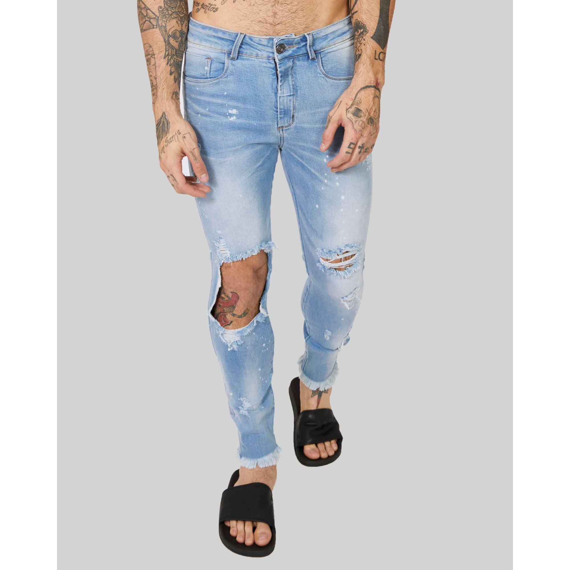 Calça Jeans Buh Rasgada Paint