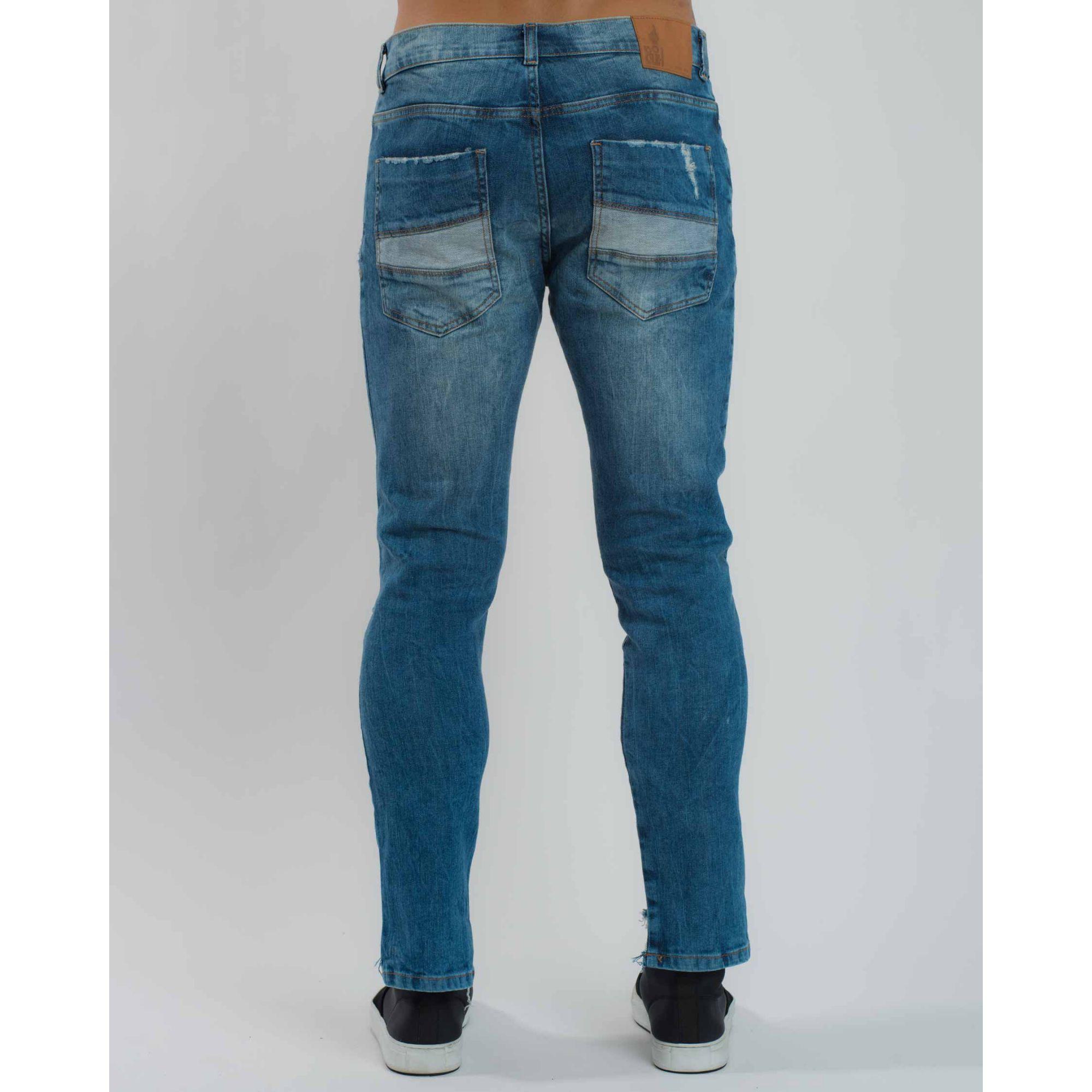Calça Jeans Ripped Azul Claro