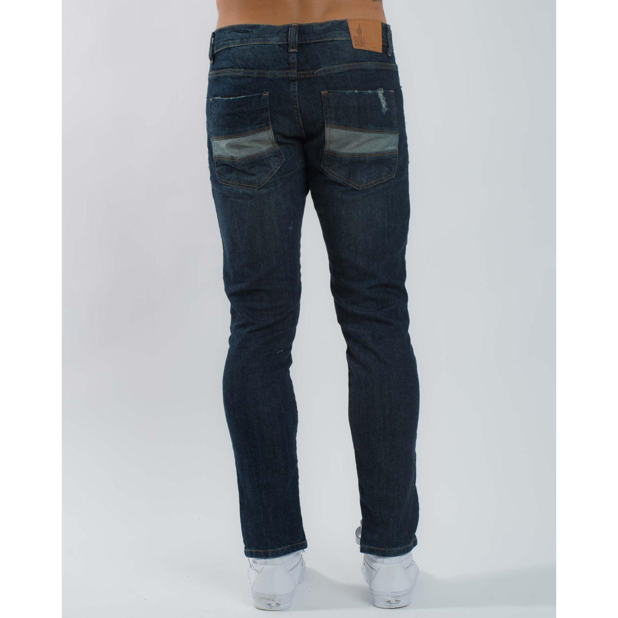 Calça Jeans Ripped Azul Escuro