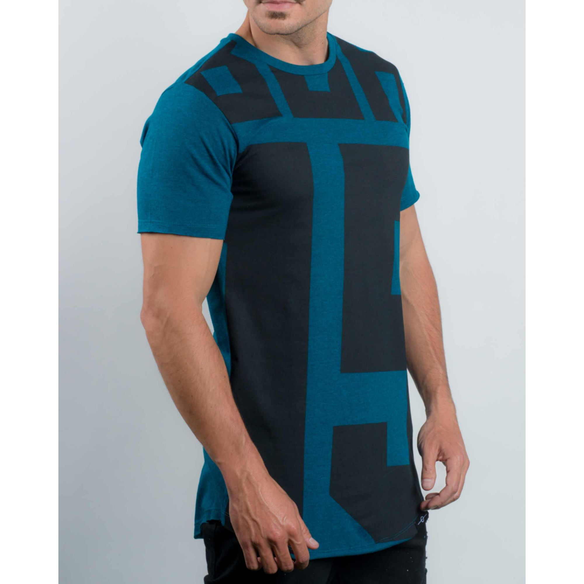 Camiseta Buh 15 Zíper Blue & Black