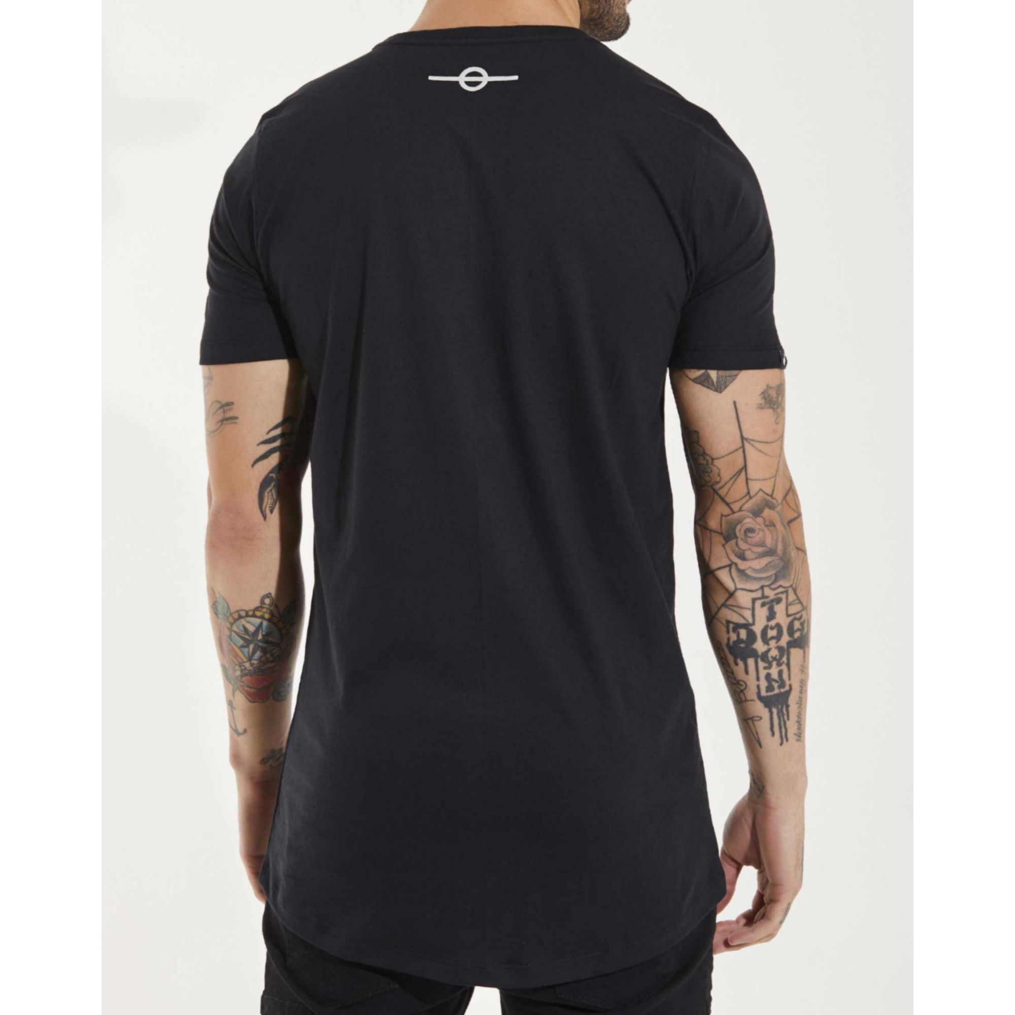 Camiseta Buh Animal Print Black