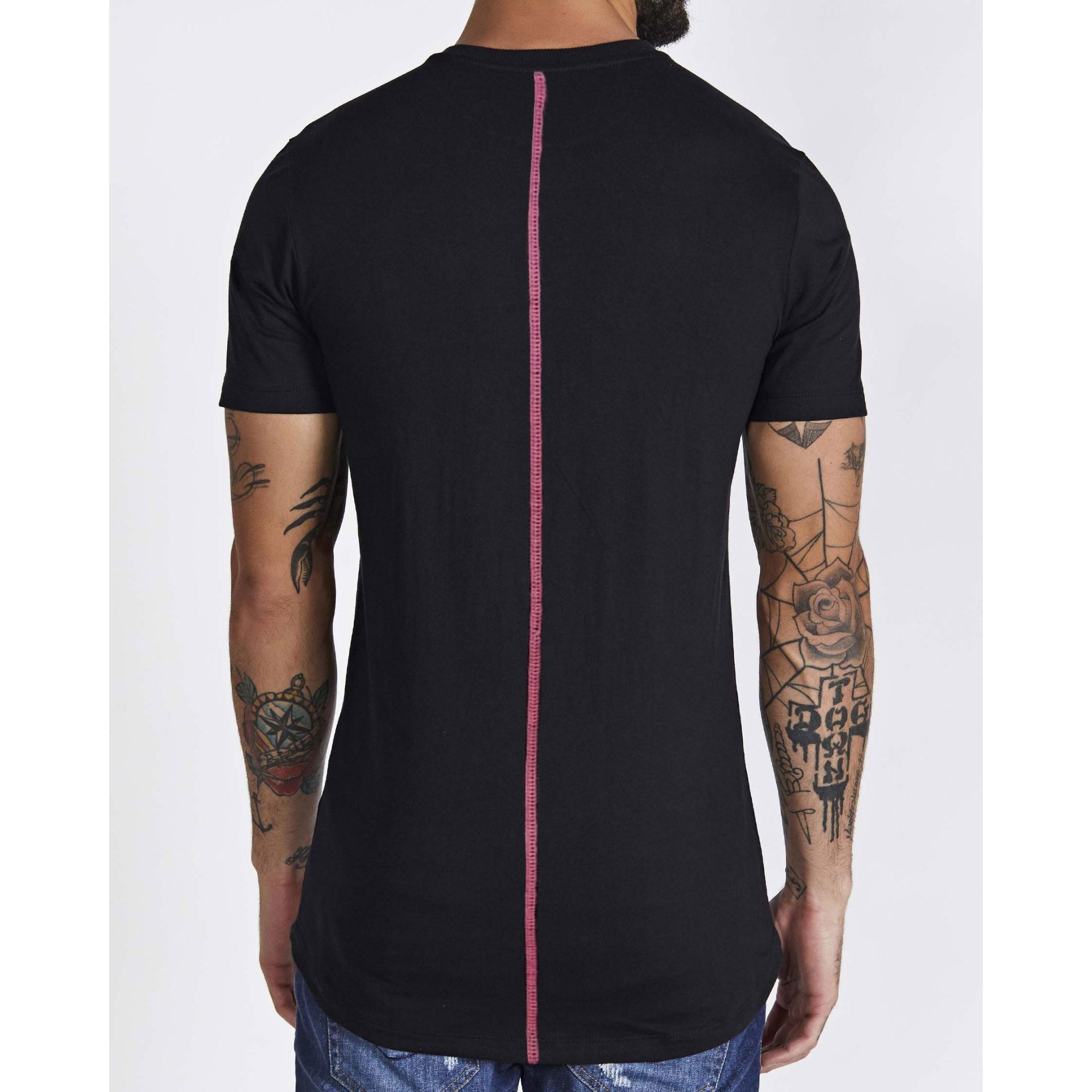 Camiseta Buh Aplique Vinil Black & Pink
