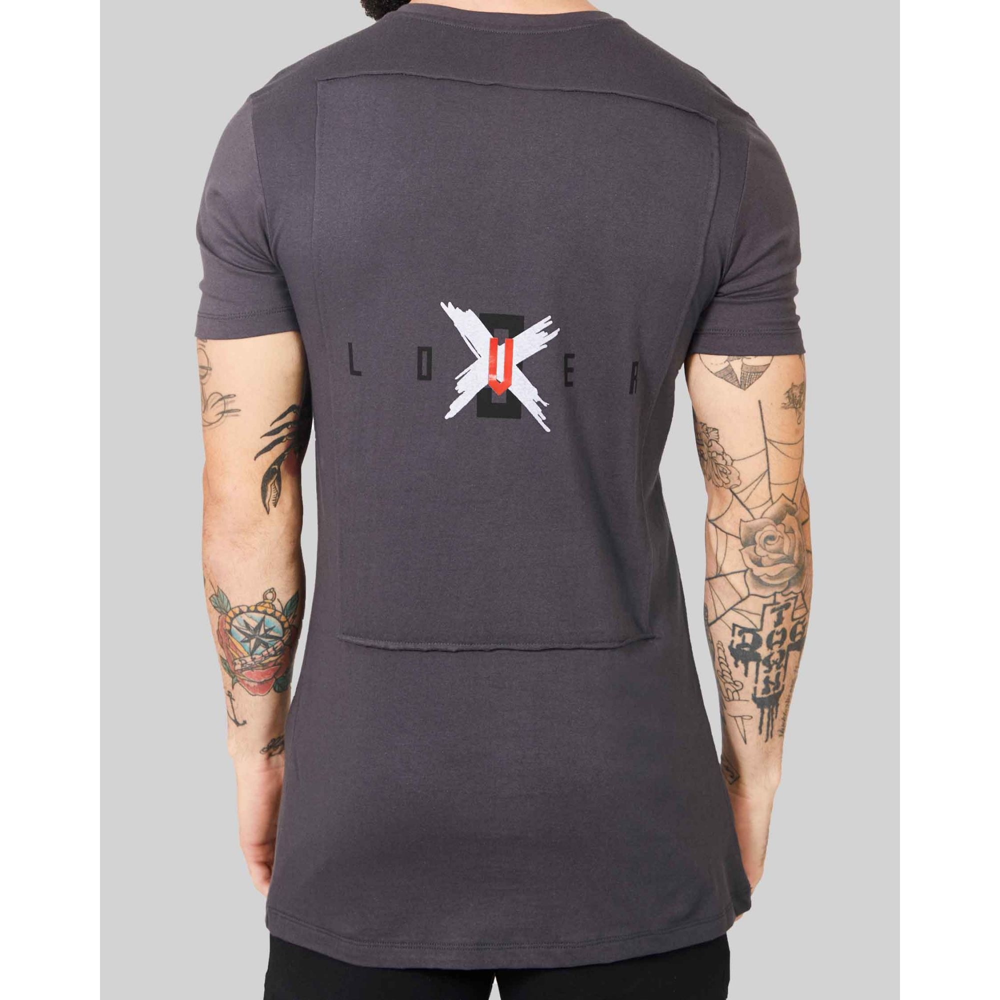 Camiseta Buh Back Lover Deep Grey