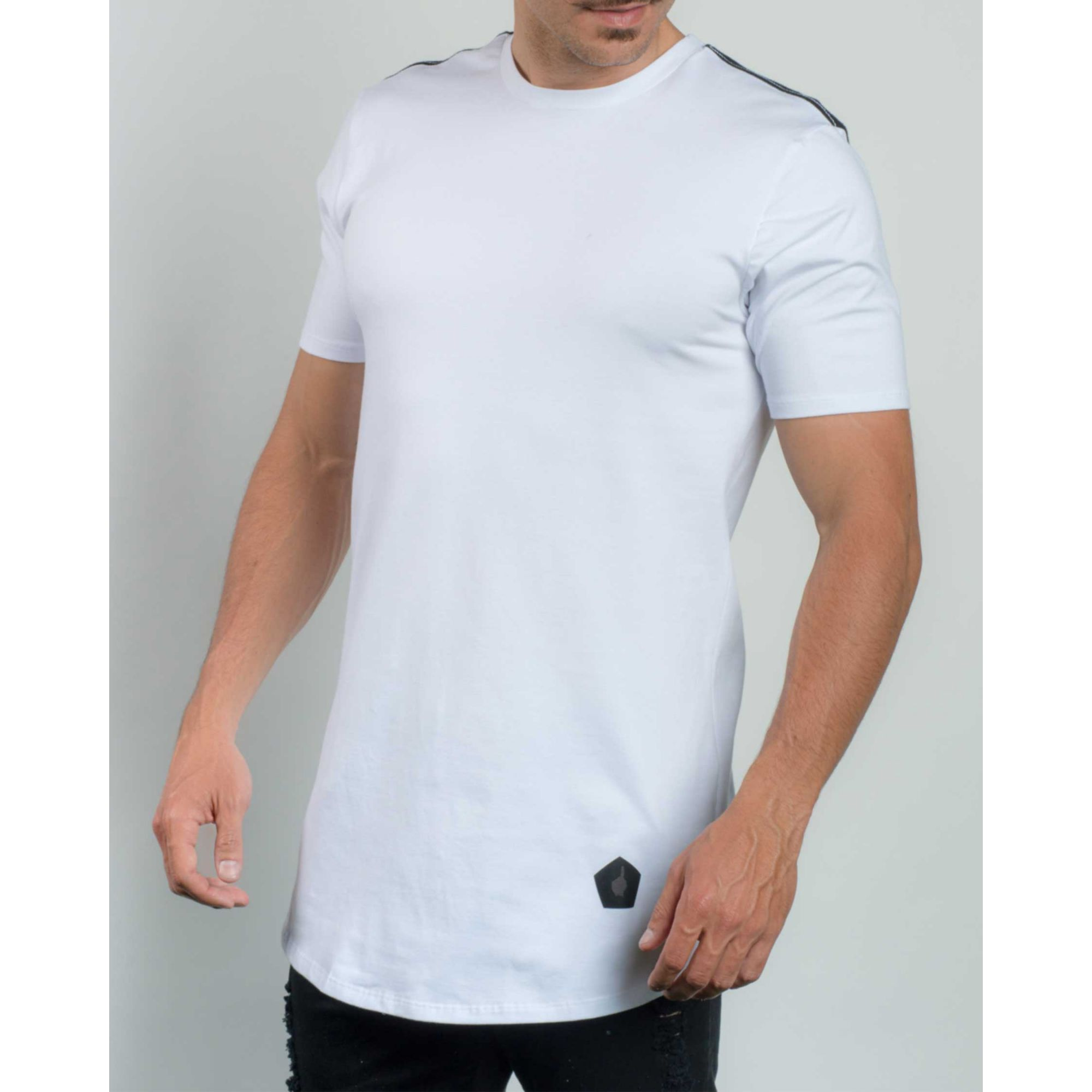 Camiseta Buh Back Mesh White & Black