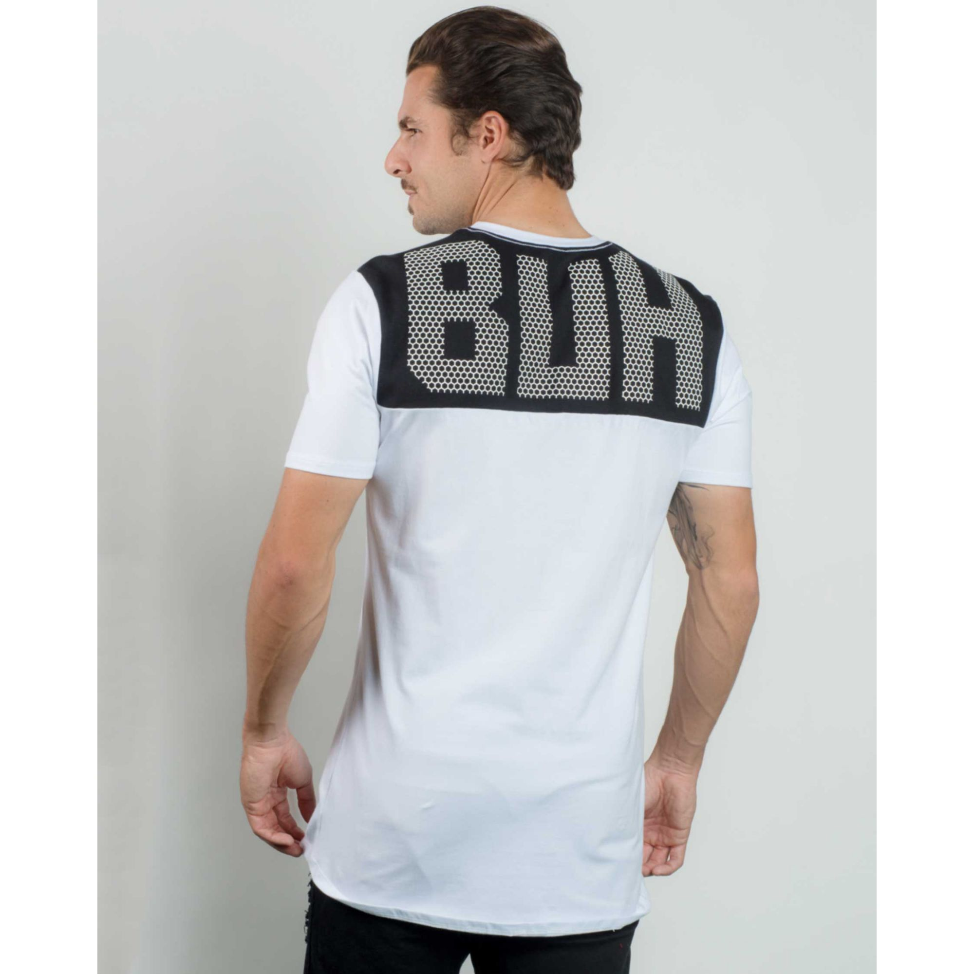 Camiseta Buh Back Mesh White & Black