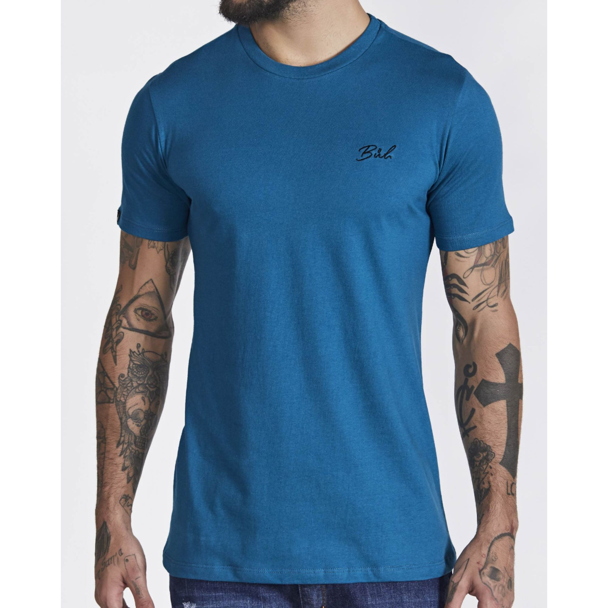 Camiseta Buh Basic Bordada Blue