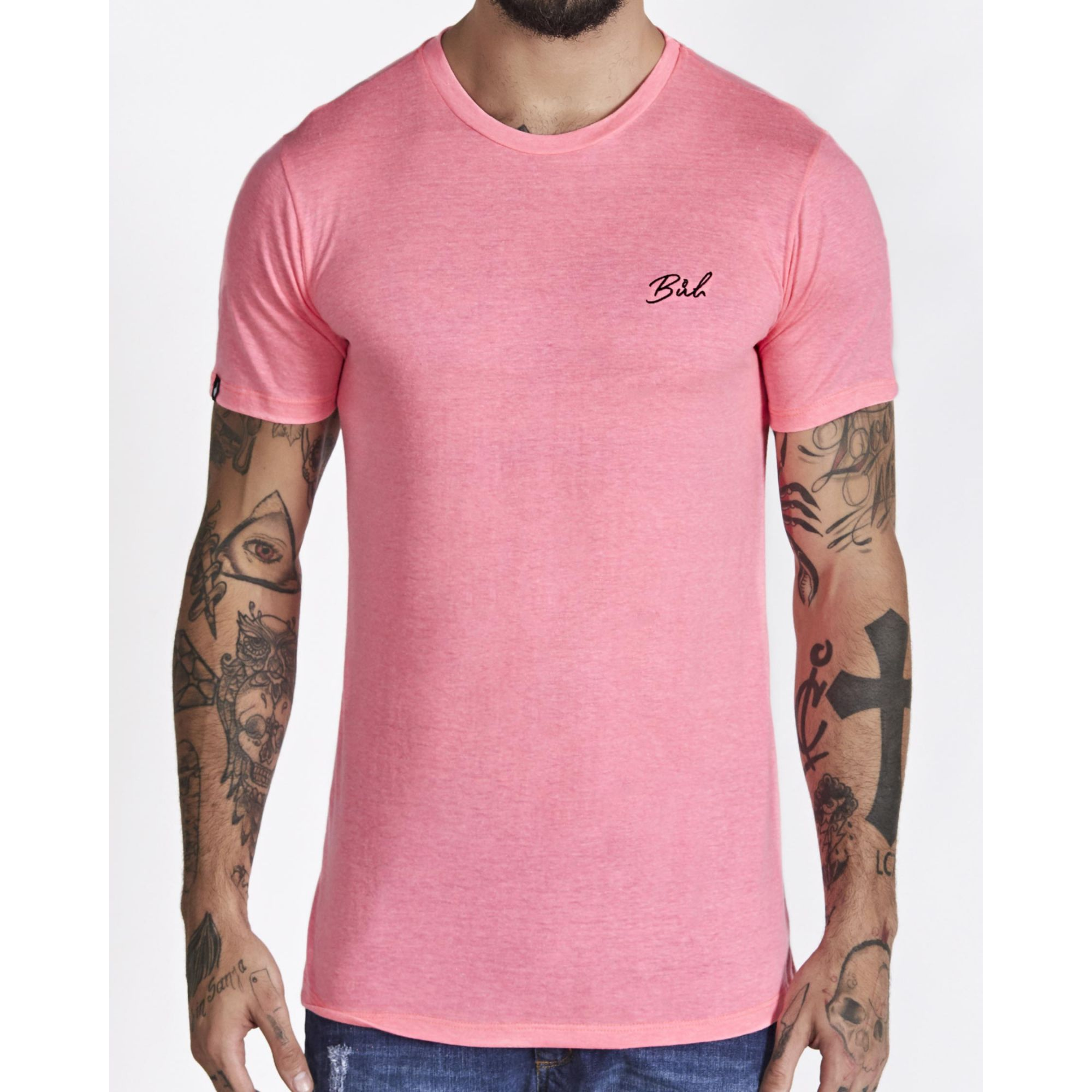Camiseta Buh Basic Bordada Rose