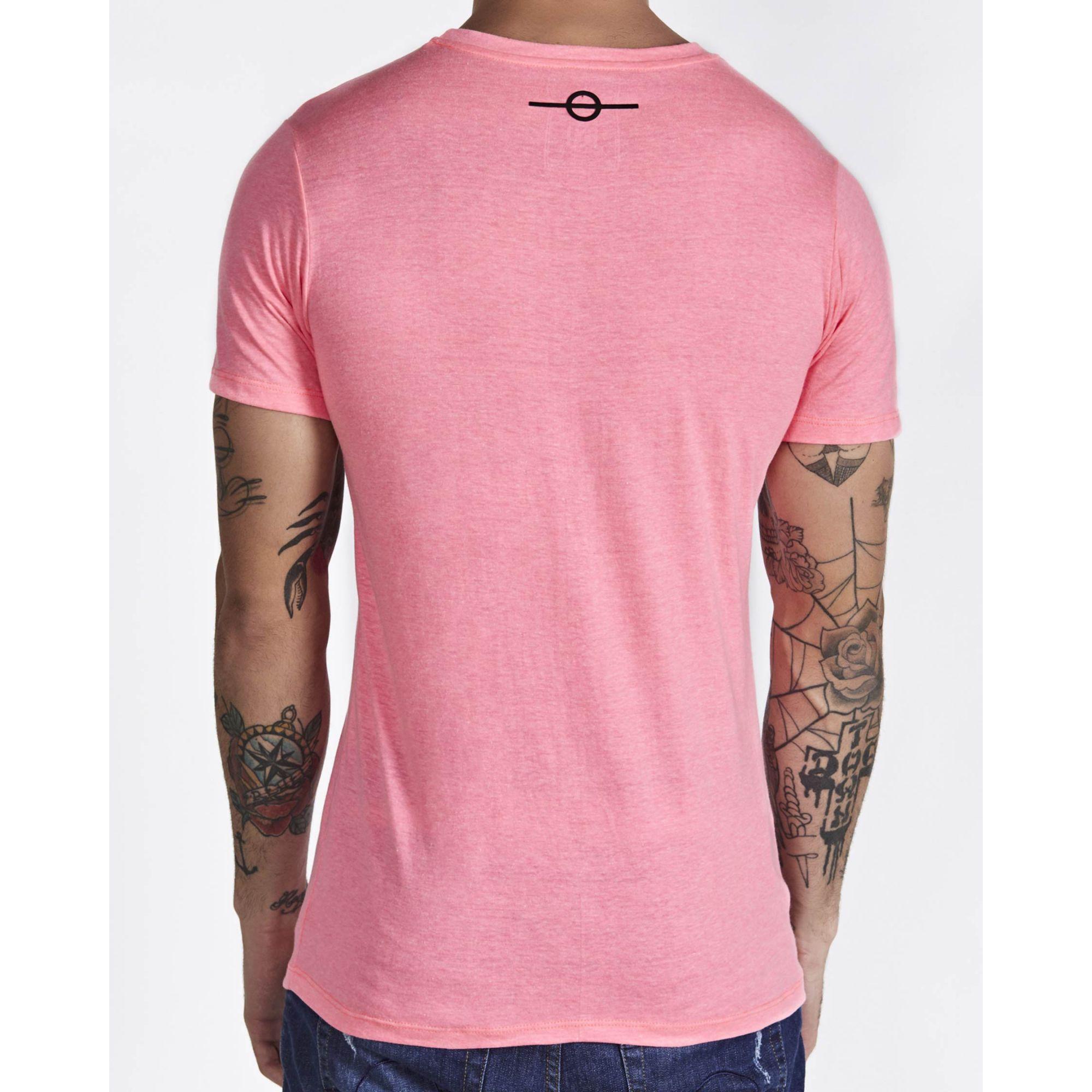 Camiseta Buh Basic Bordada Rose