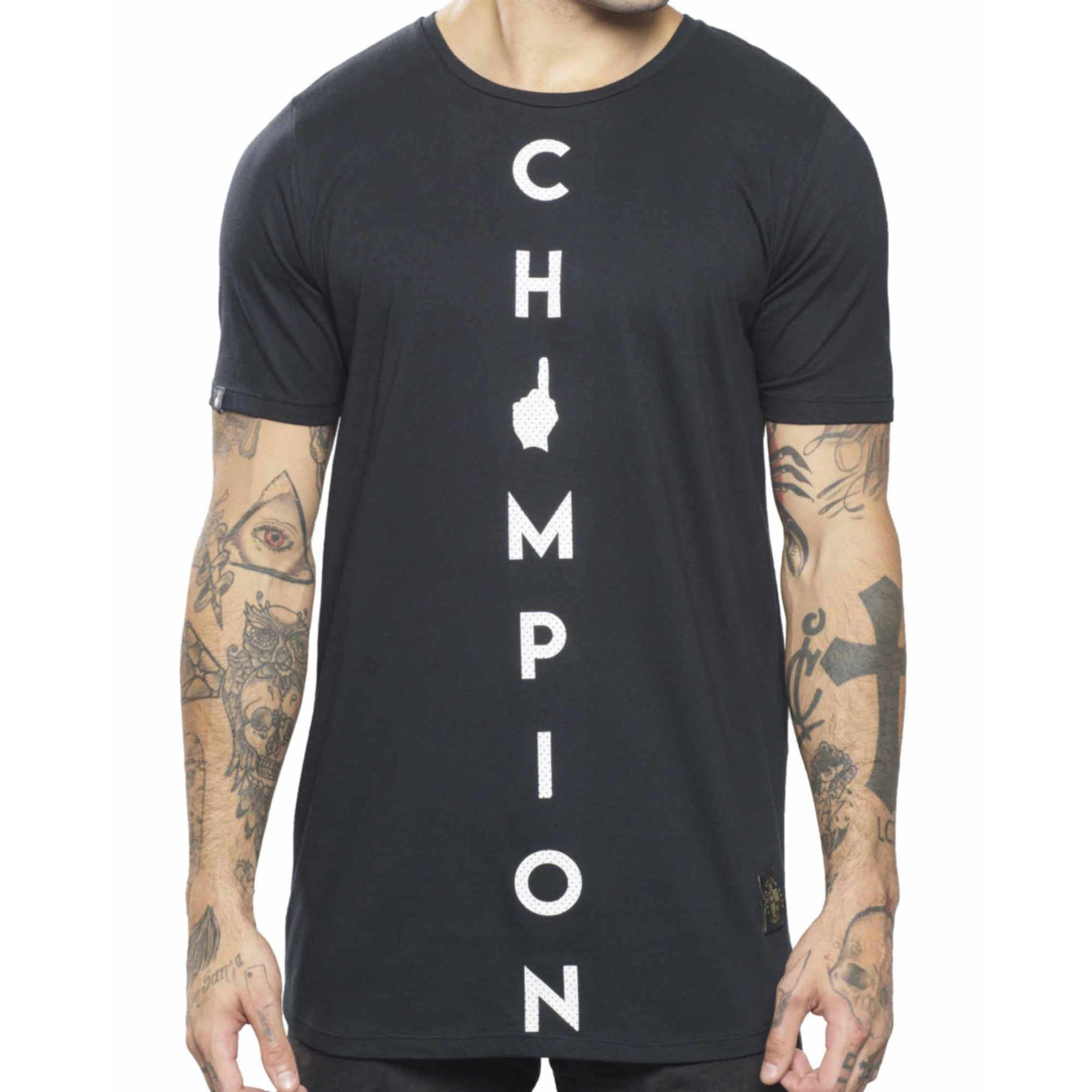 Camiseta Buh Basic Champion Black