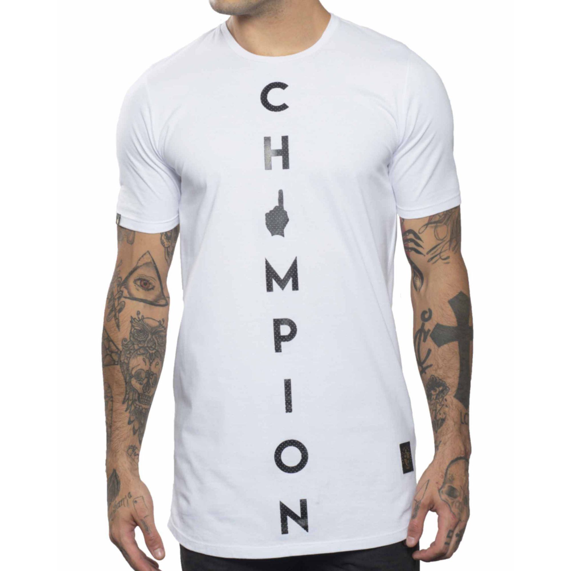 Camiseta Buh Basic Champion White