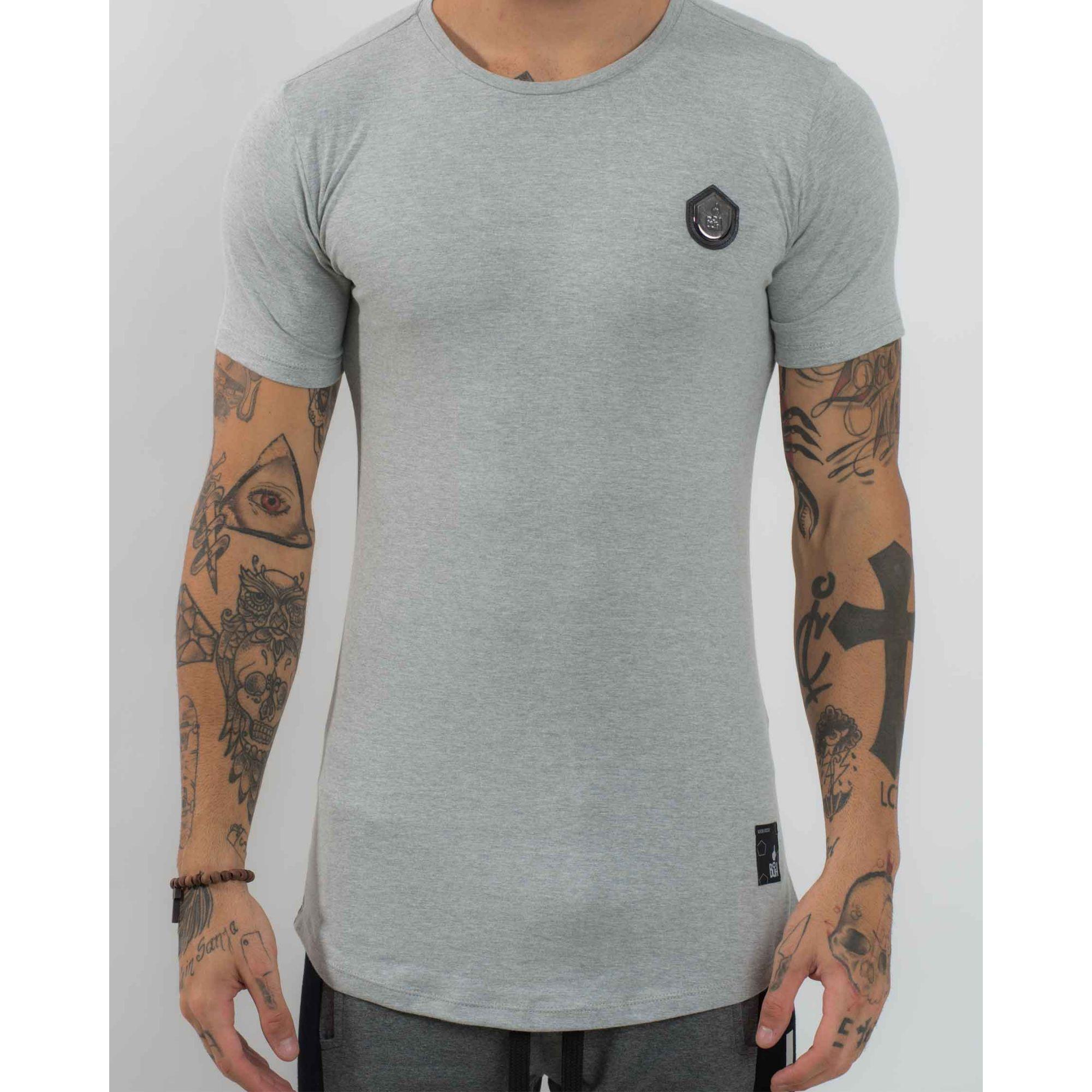 Camiseta Buh Basic Cotton Leather Grey