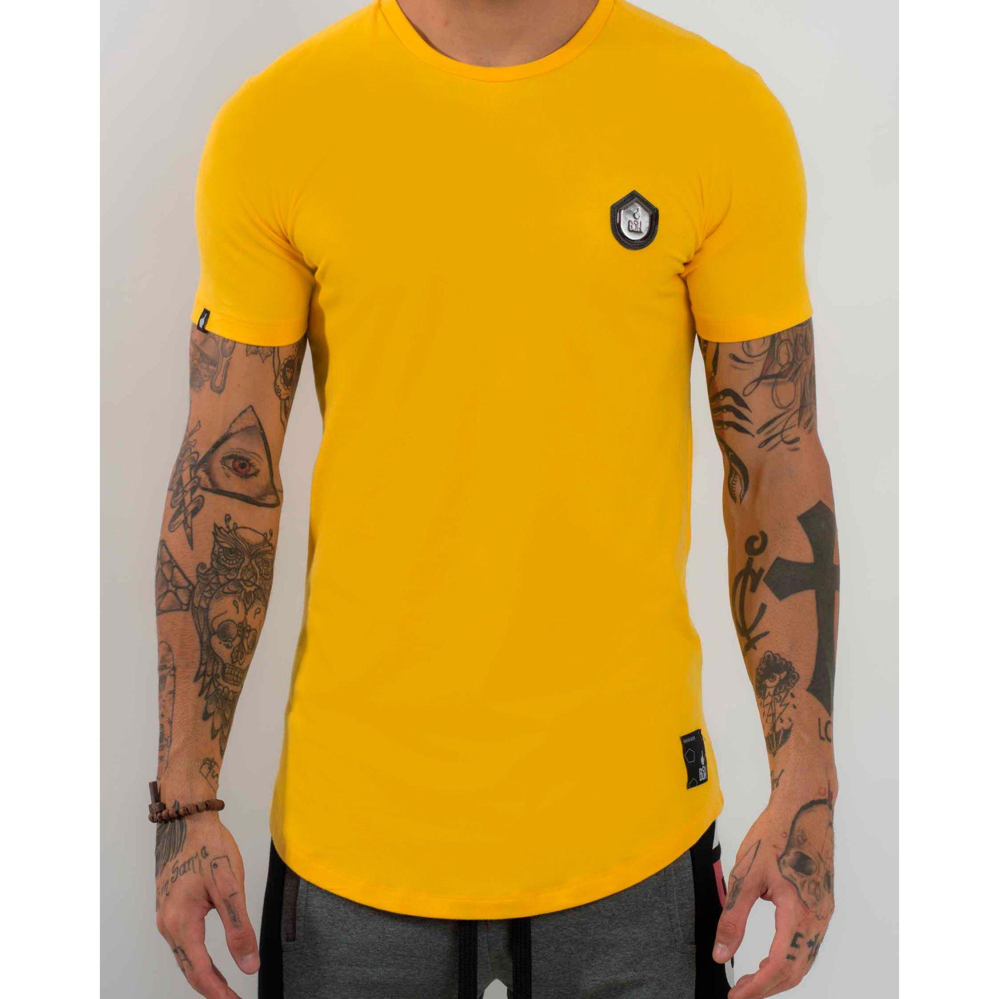 Camiseta Buh Basic Cotton Leather Yellow