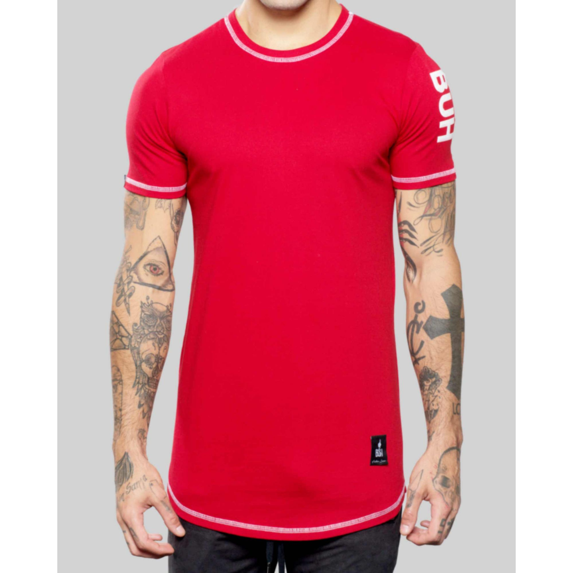 Camiseta Buh Basic Label Red