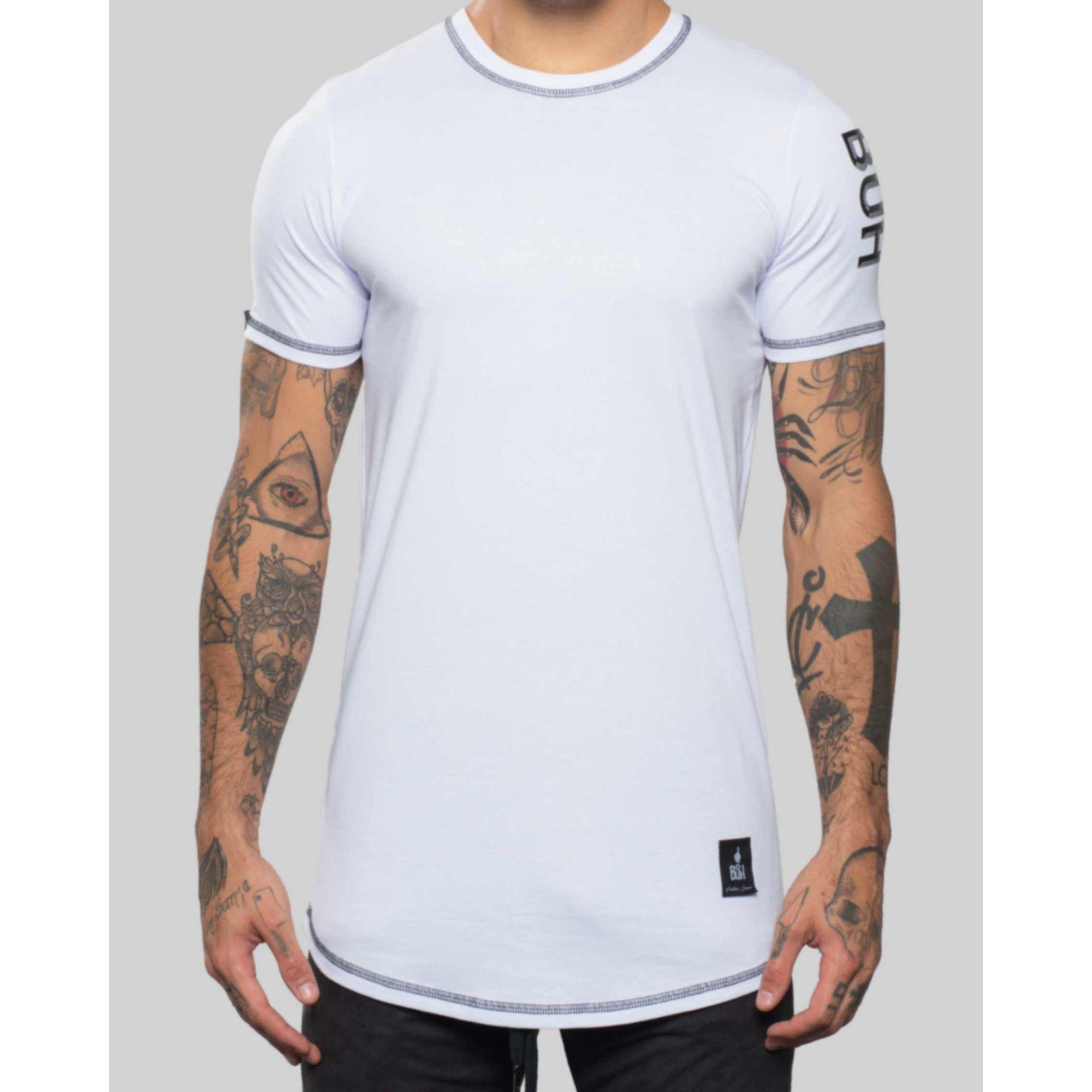 Camiseta Buh Basic Label White