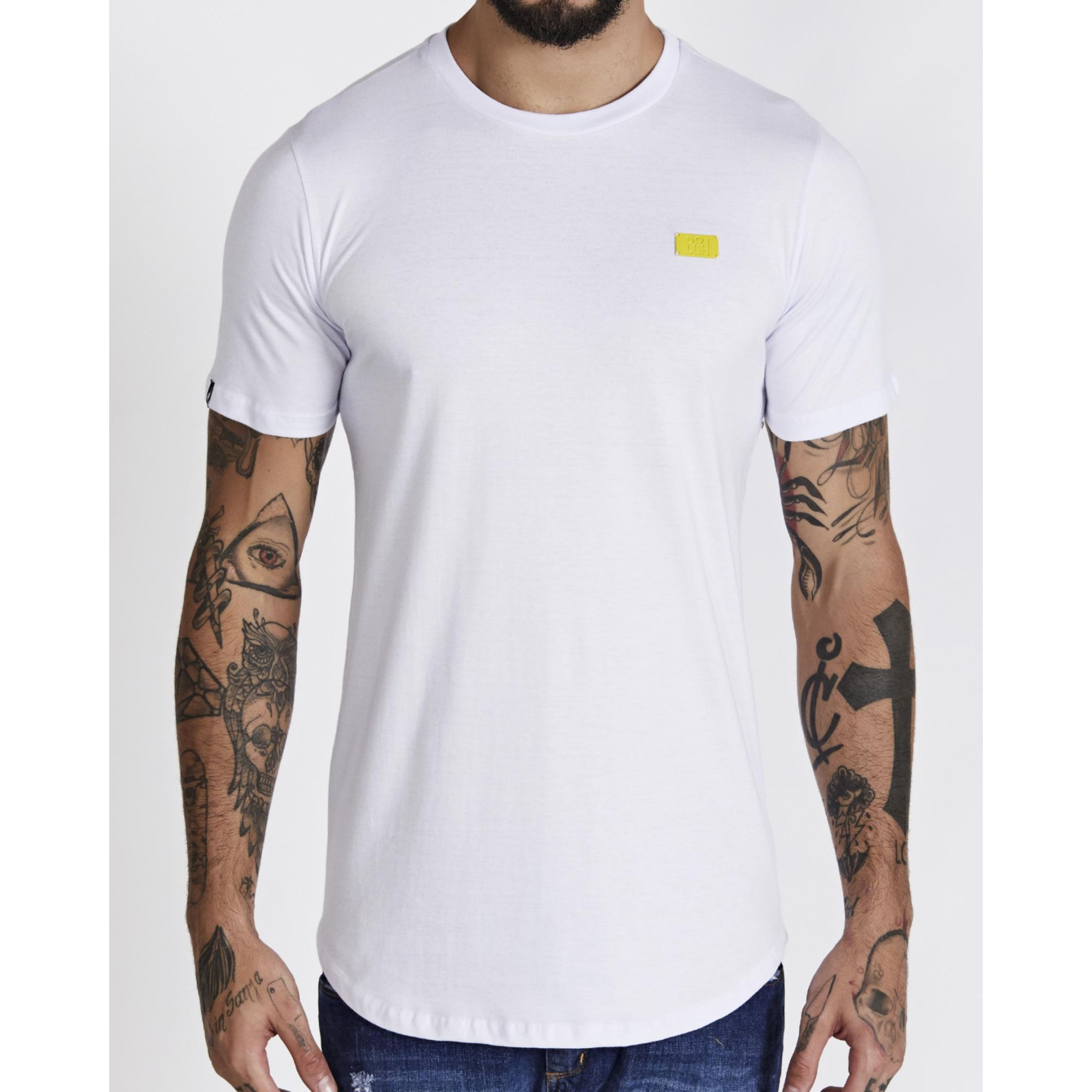 Camiseta Buh Basic Plaquinha White