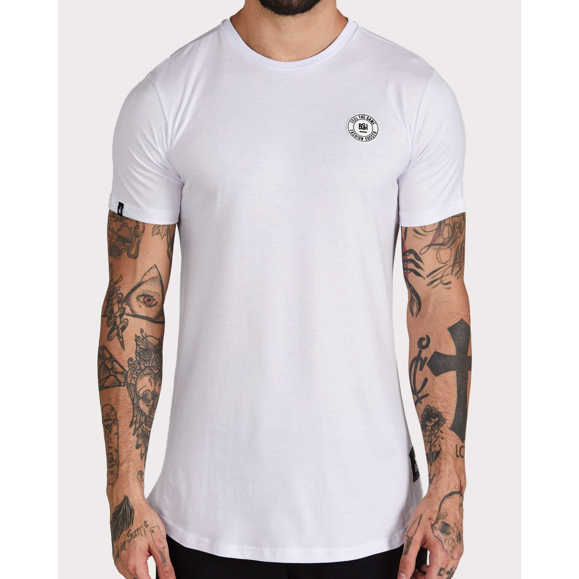 Camiseta Buh Basic Rubber White