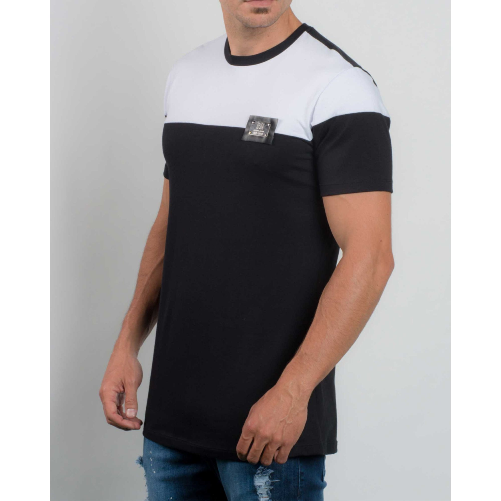 Camiseta Buh Bicolor Metal White & Black