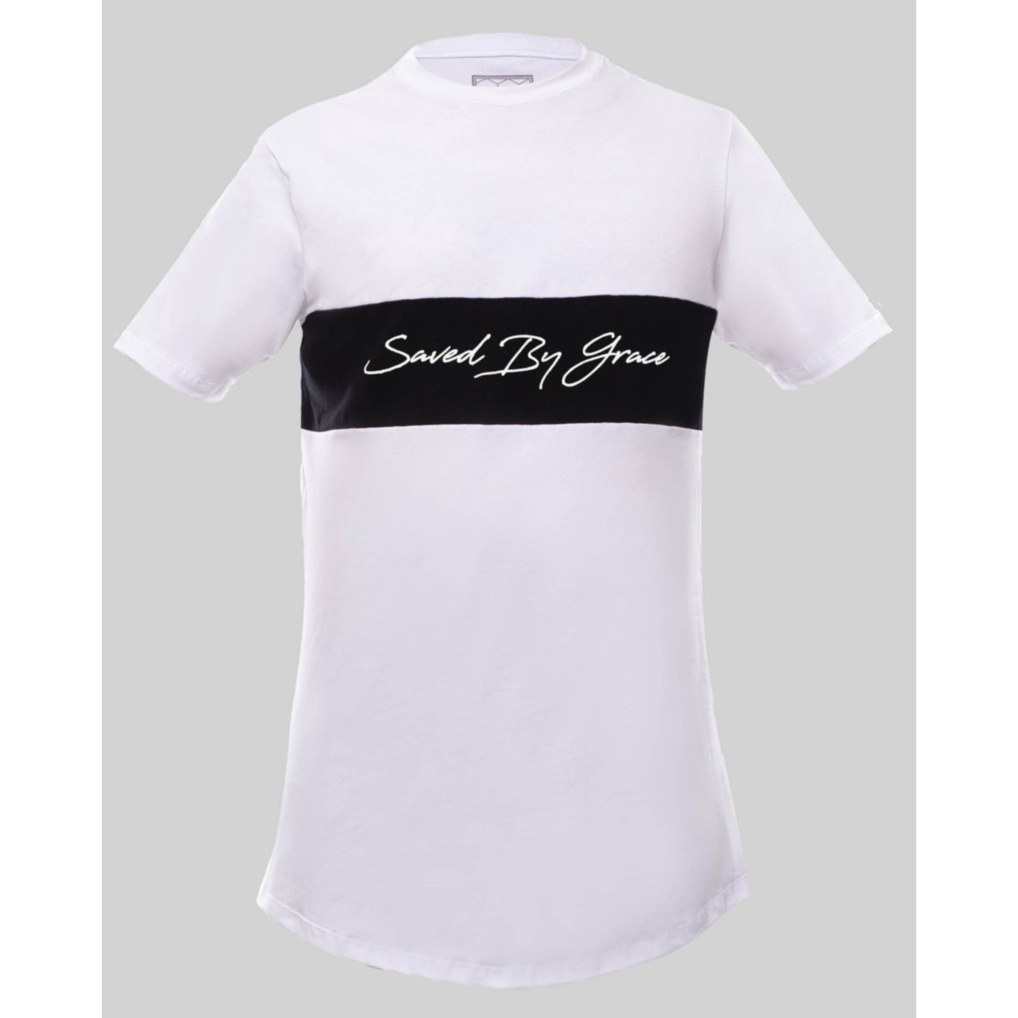 Camiseta Buh Bicolor Saved By Grace White