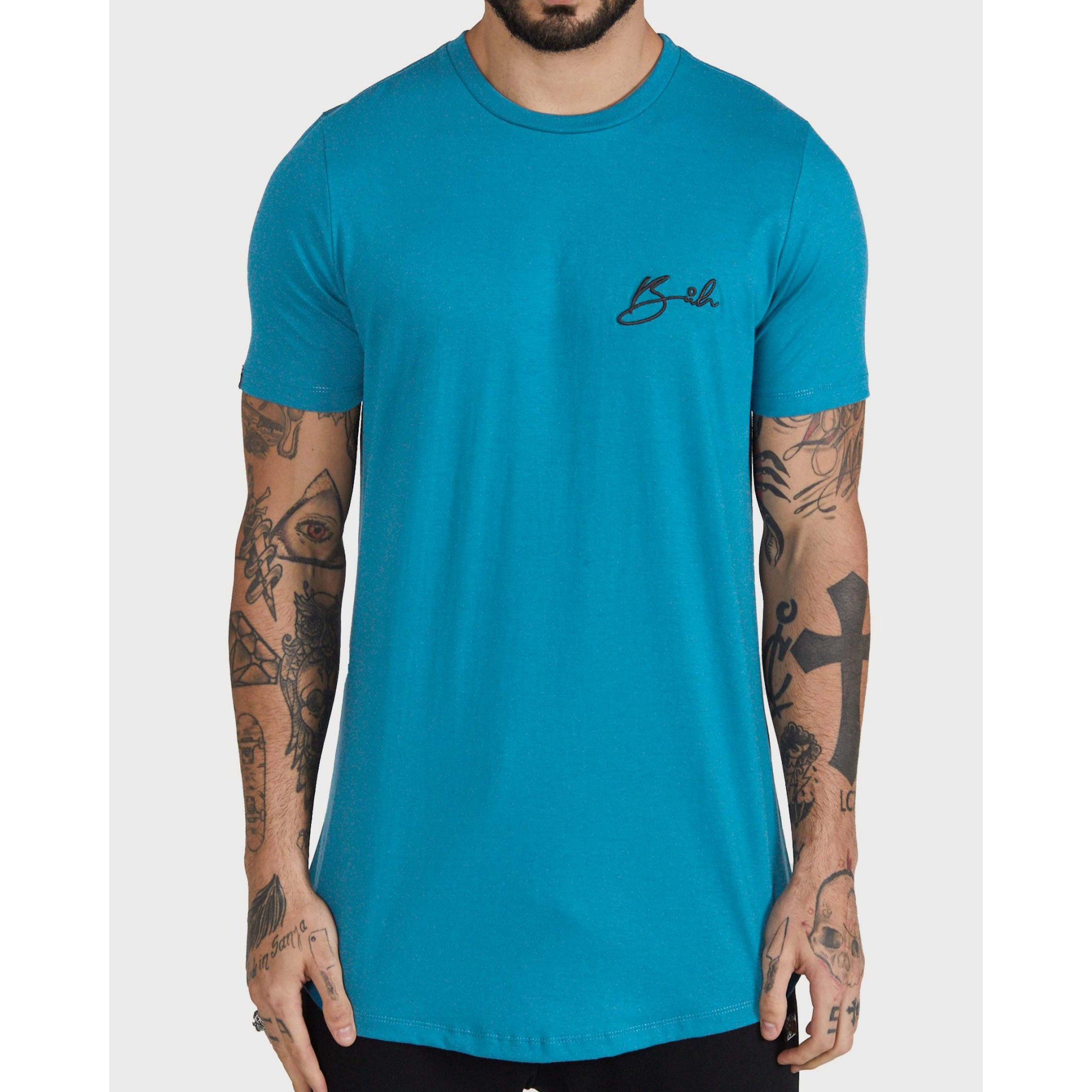 Camiseta Buh Bordado Blue