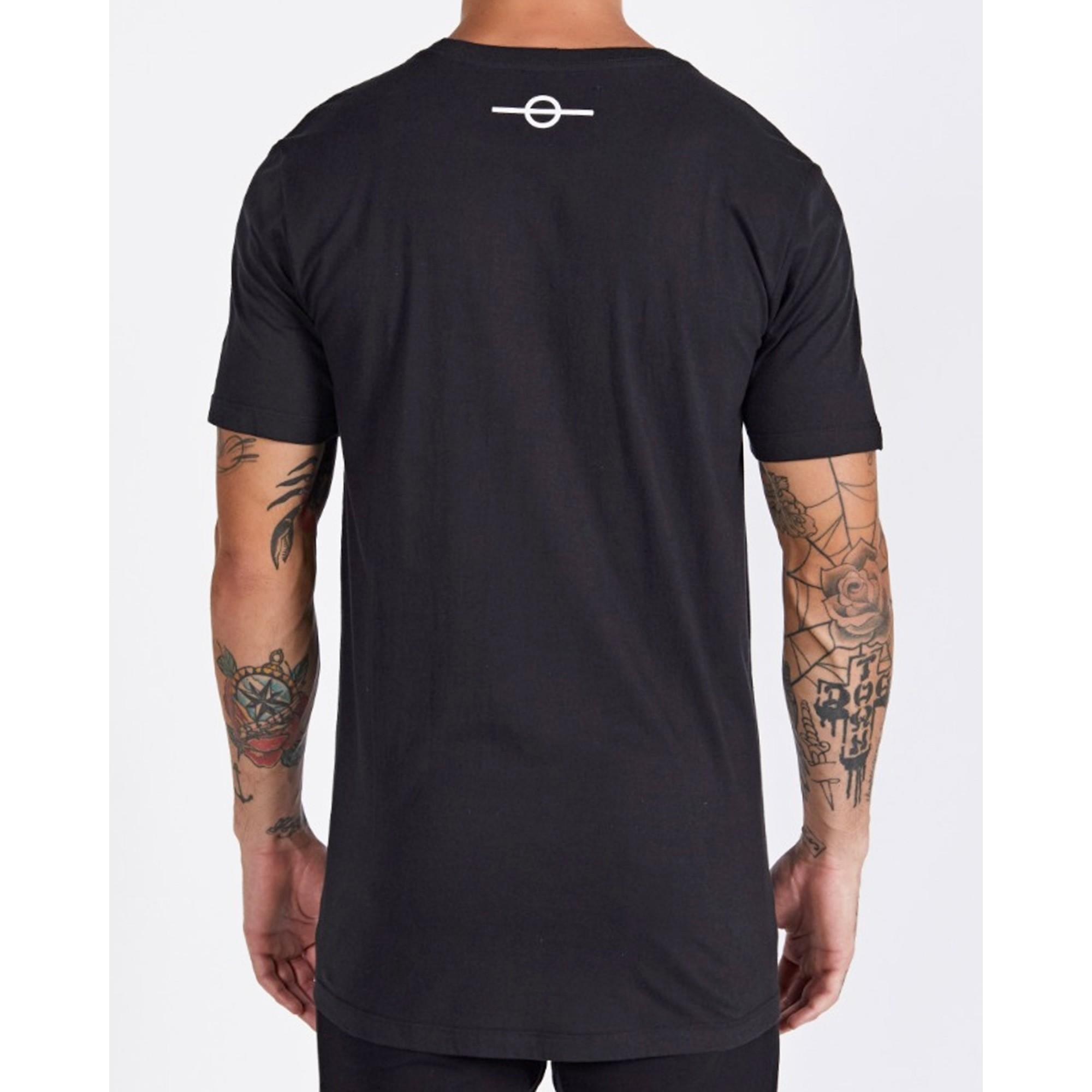 Camiseta Buh Bordado Fashion Soccer Black