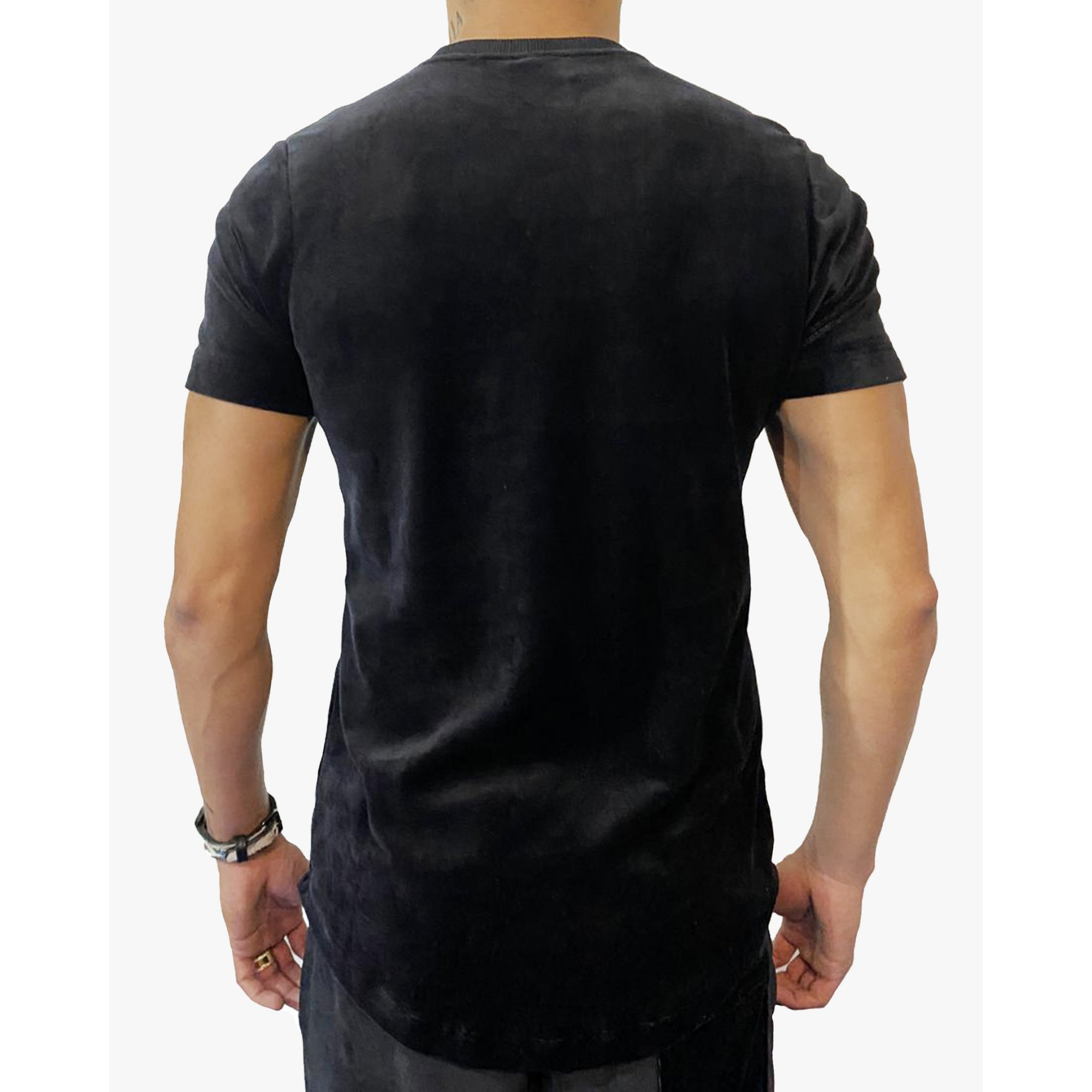 Camiseta Buh Bordado Plush Black